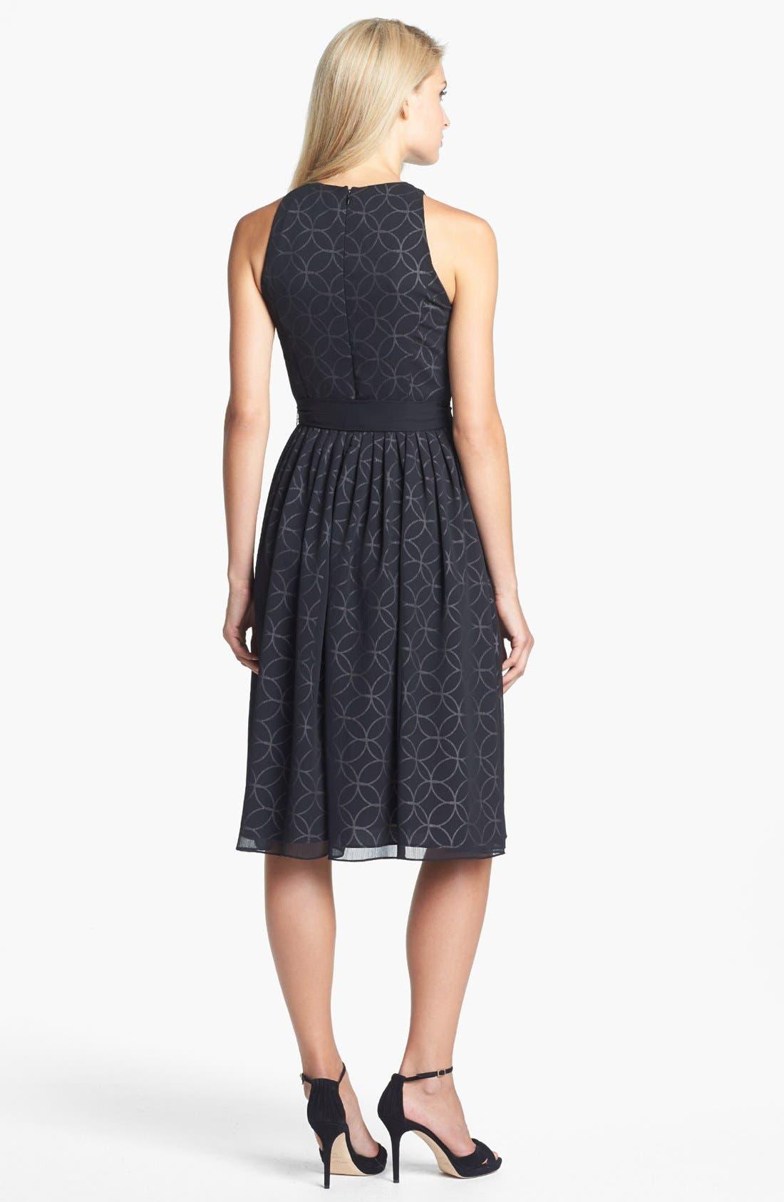 Alternate Image 2  - Isaac Mizrahi New York Print Chiffon Fit & Flare Dress