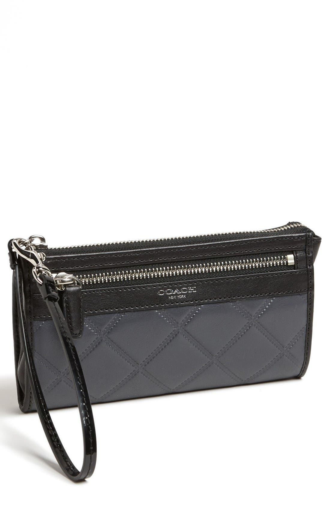 Main Image - COACH 'Legacy - Zippy' Quilted Leather Wallet
