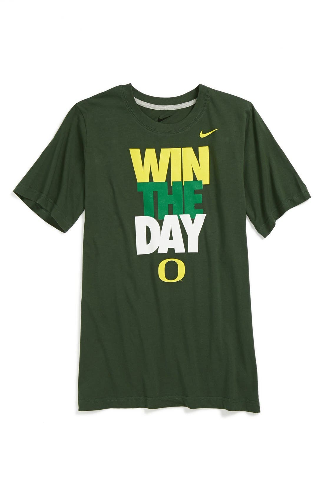Alternate Image 1 Selected - Nike 'Win the Day - Oregon Ducks' T-Shirt (Big Boys)