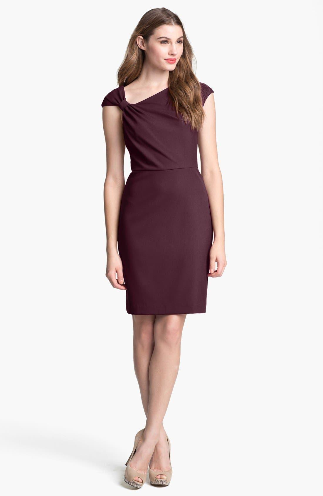 Main Image - Ivy & Blu Cap Sleeve Sheath Dress (Petite)