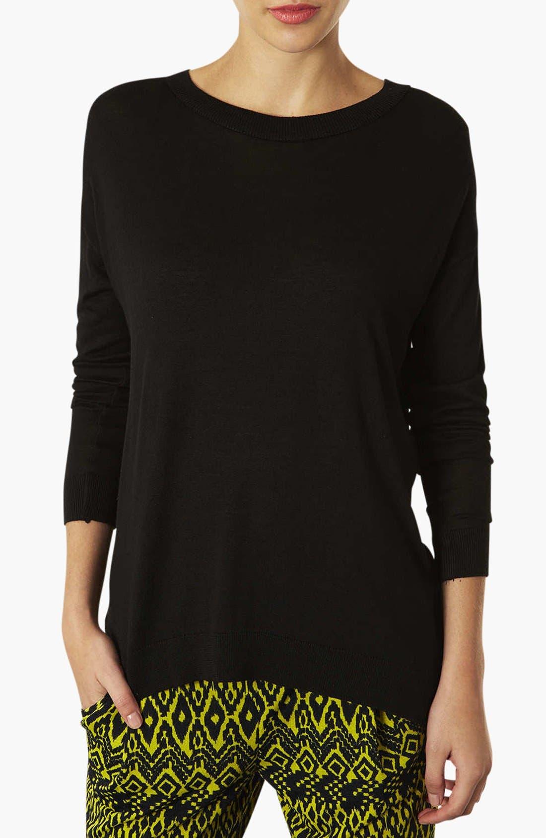 Alternate Image 1 Selected - Topshop Crewneck Sweater