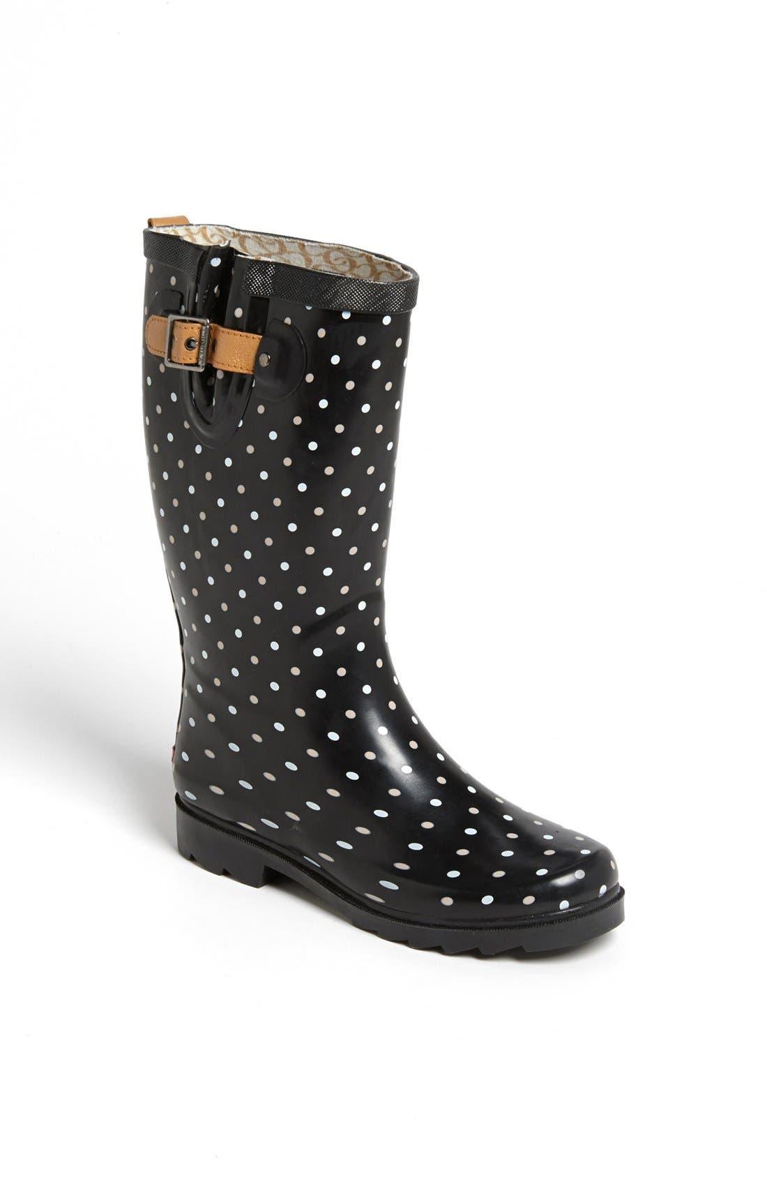 Alternate Image 1 Selected - Chooka 'Classical Dot' Rain Boot (Women)