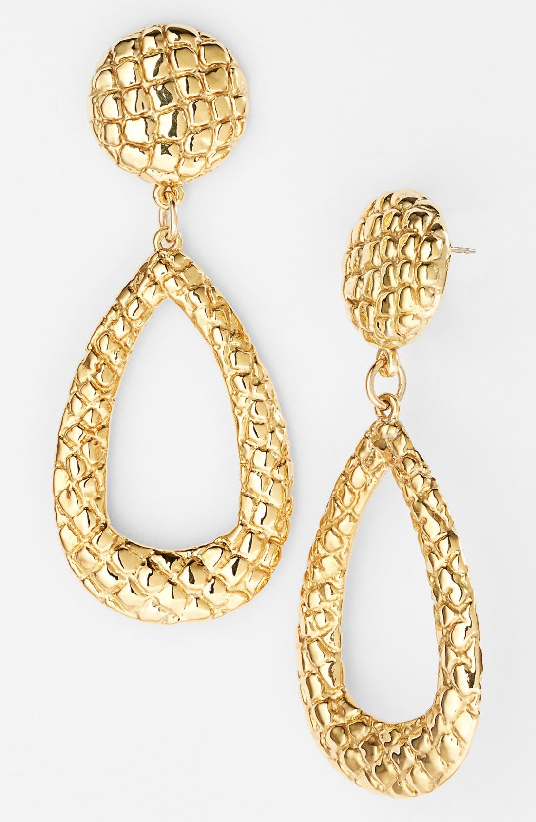 Alternate Image 1 Selected - Simon Sebbag 'Gold Crocodile' Teardrop Earrings