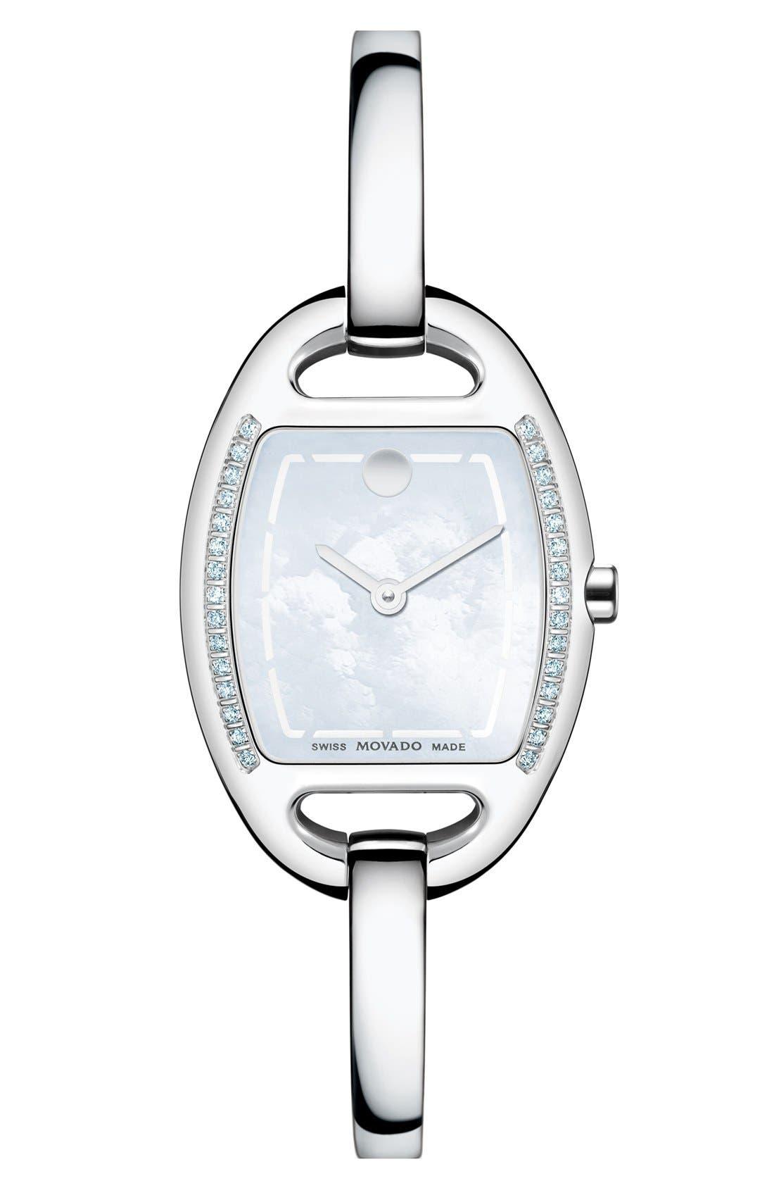 Main Image - Movado 'Miri' Diamond Bangle Watch, 24mm