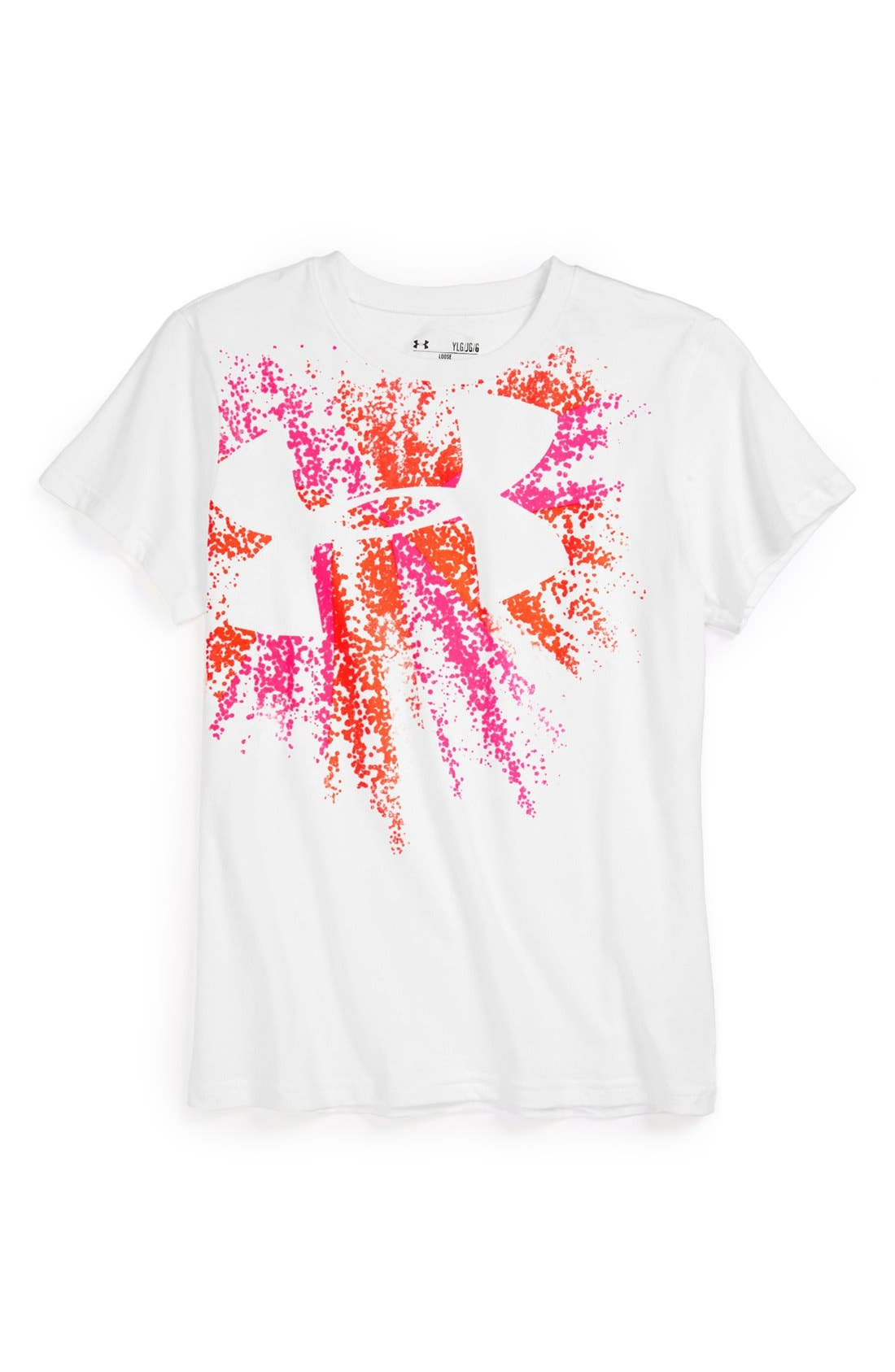 Alternate Image 1 Selected - Under Armour 'Logo Burst' Graphic Tee (Big Girls)
