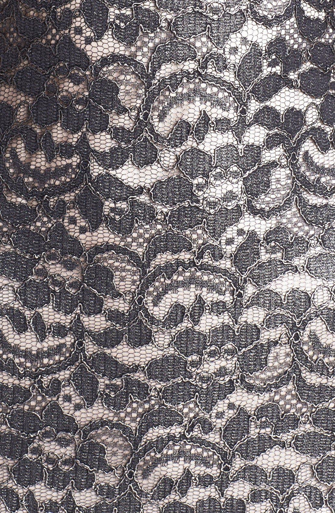 Alternate Image 3  - L'AGENCE Short Sleeve Lace Dress