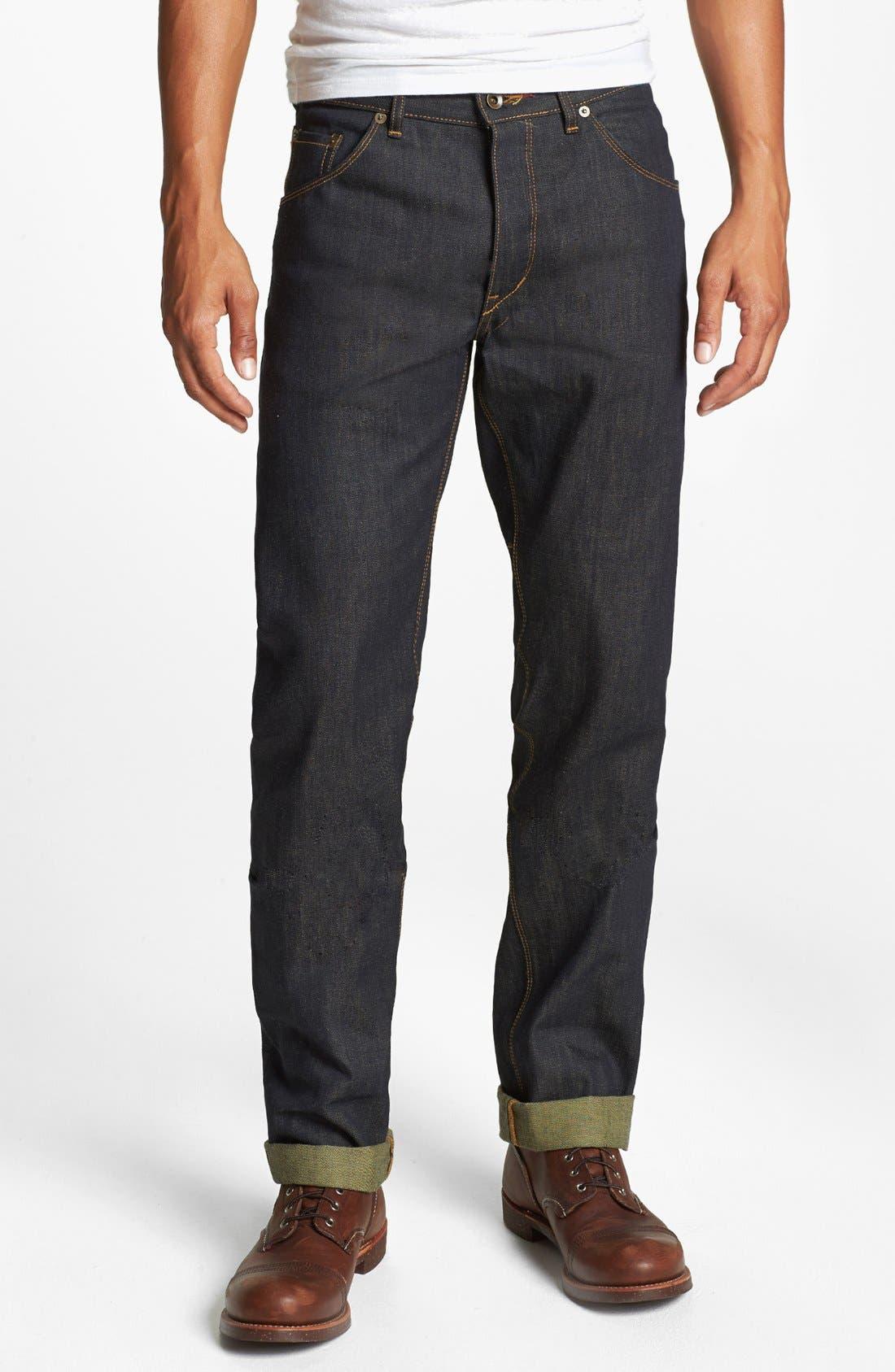Alternate Image 2  - Raleigh Denim 'Jones' Slim Fit Raw Selvedge Jeans (Original Selvage)