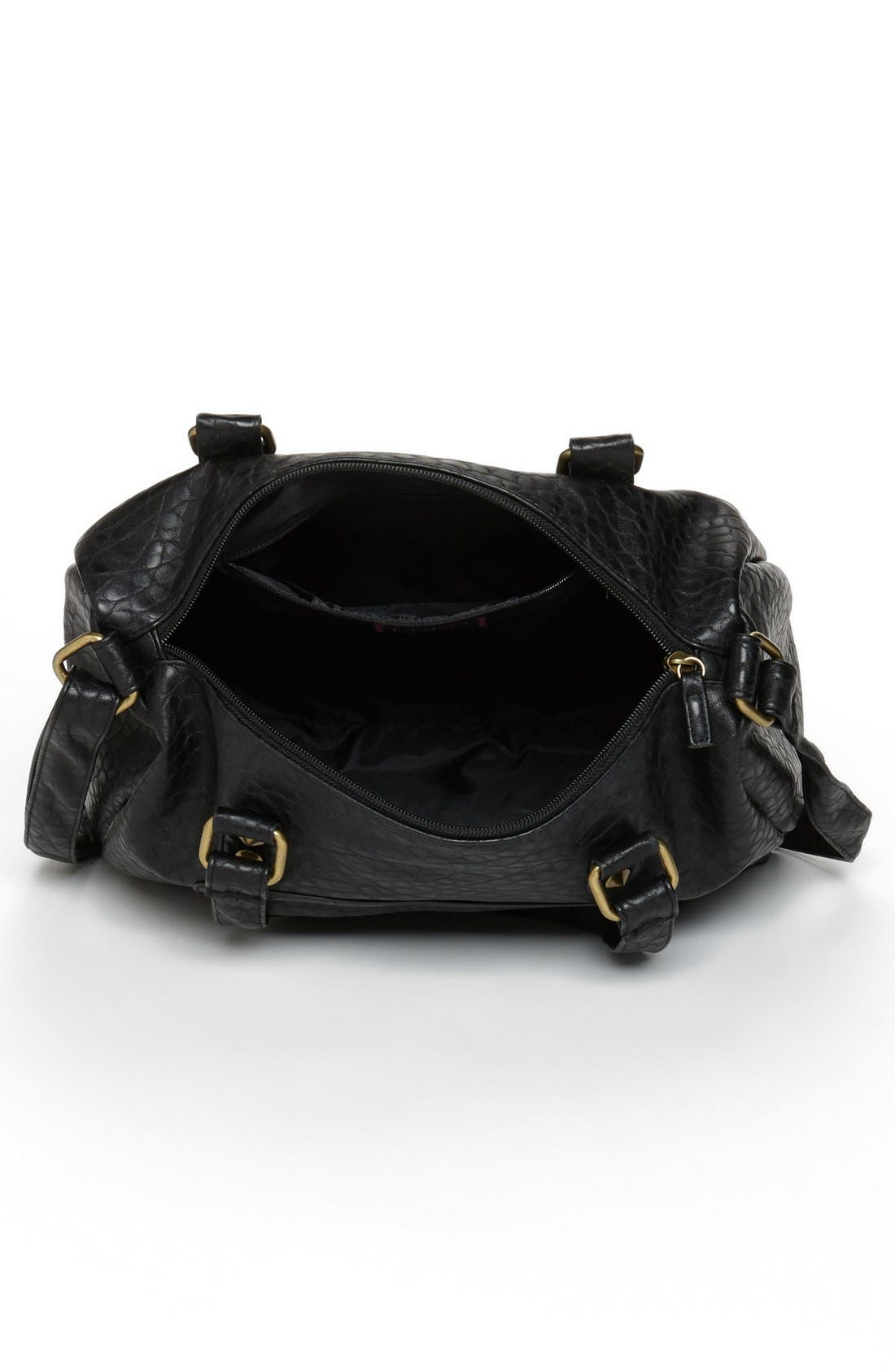 Alternate Image 3  - Lulu Pebbled Faux Leather Satchel (Juniors)