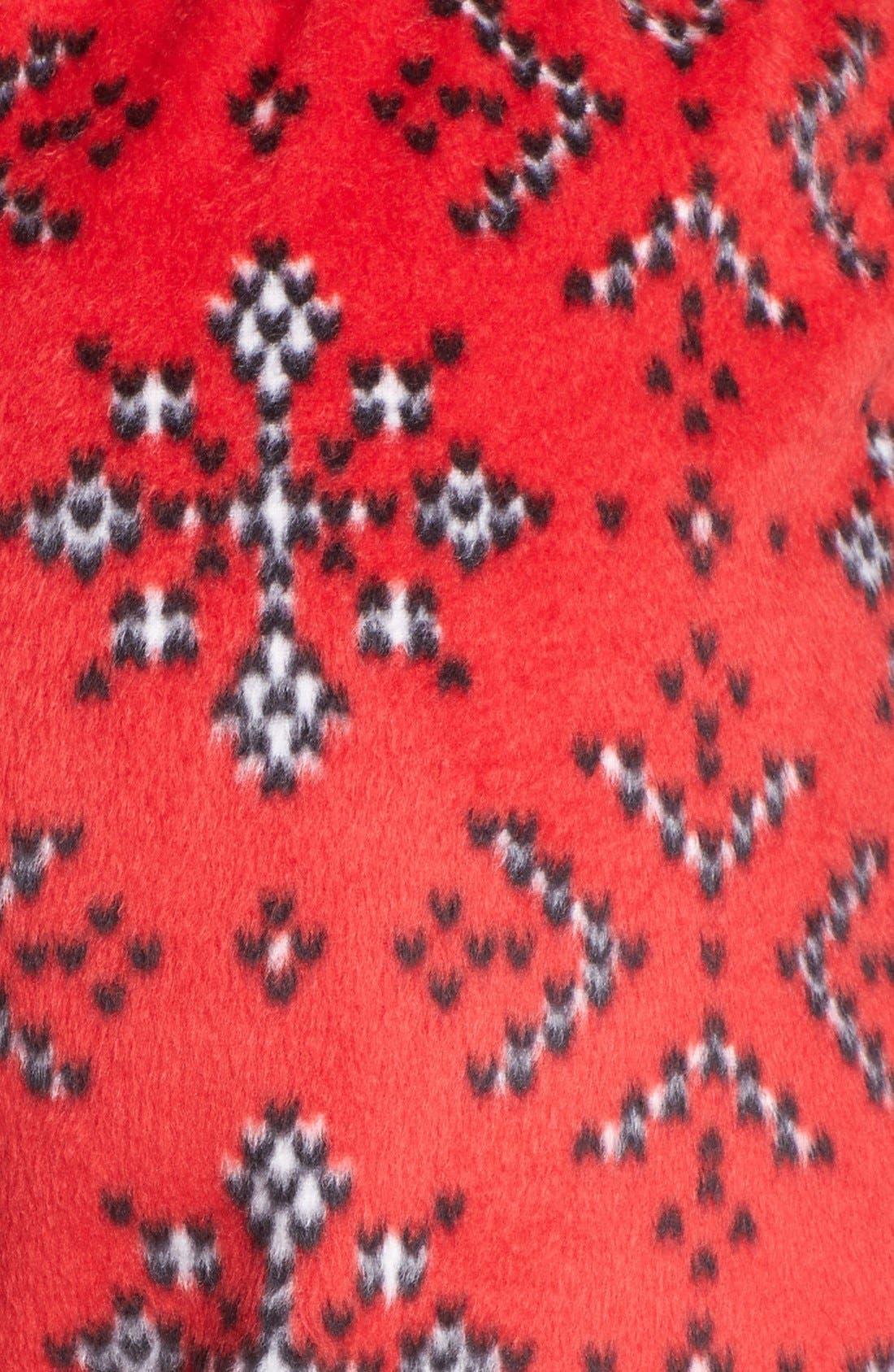 Alternate Image 4  - kensie 'Chilled Out' Fleece Ski Pajama Pants
