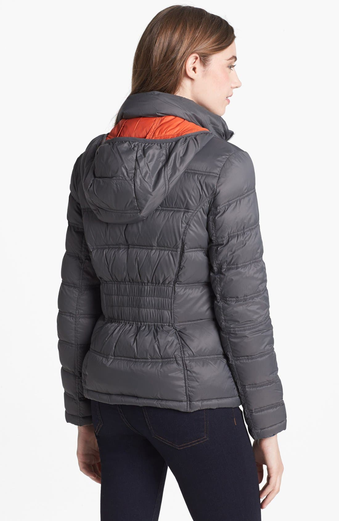 Alternate Image 2  - MICHAEL Michael Kors Packable Down Jacket with Detachable Hood (Petite) (Online Only)