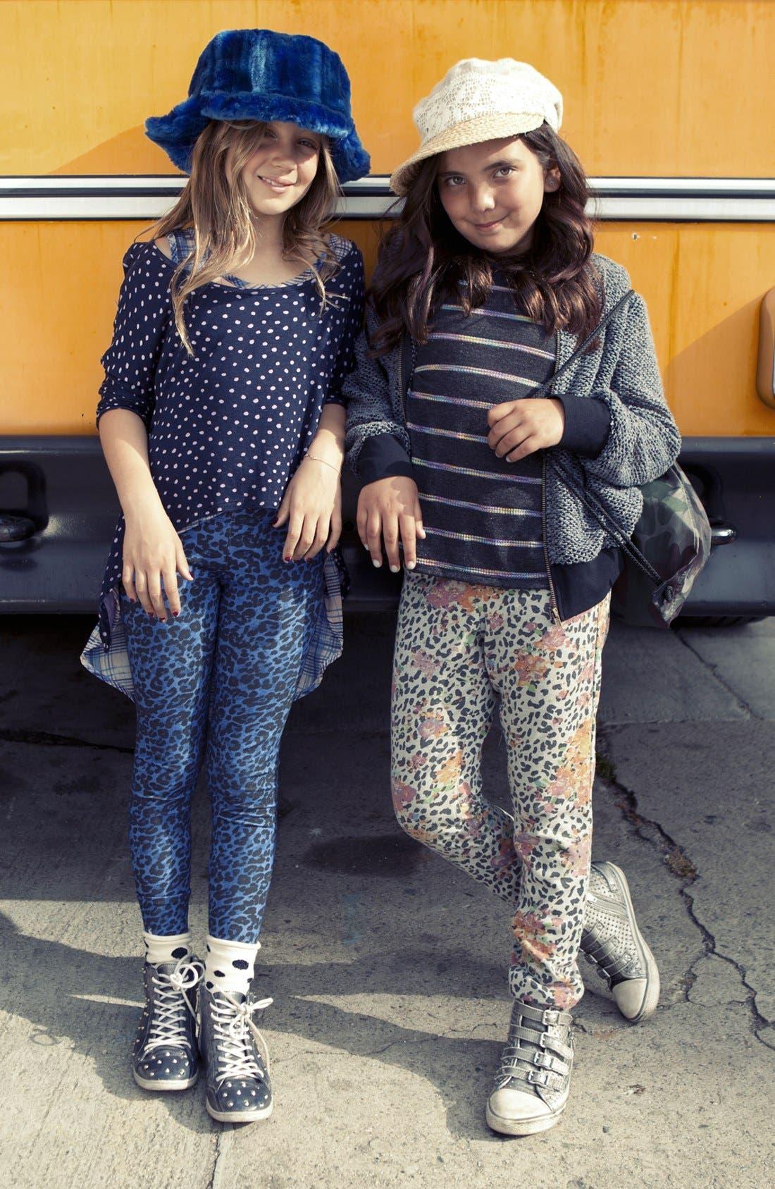 Alternate Image 2  - Mia Chica Space Dye Stripe Top (Little Girls & Big Girls)