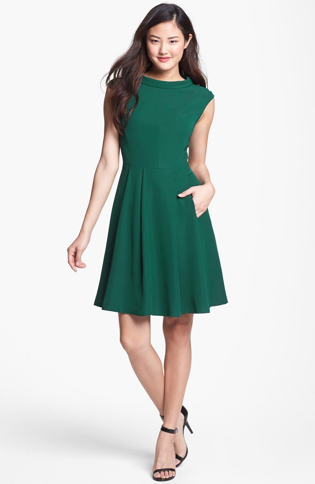 Alternate Image 1 Selected - Vince Camuto Fit & Flare Dress (Regular & Petite)