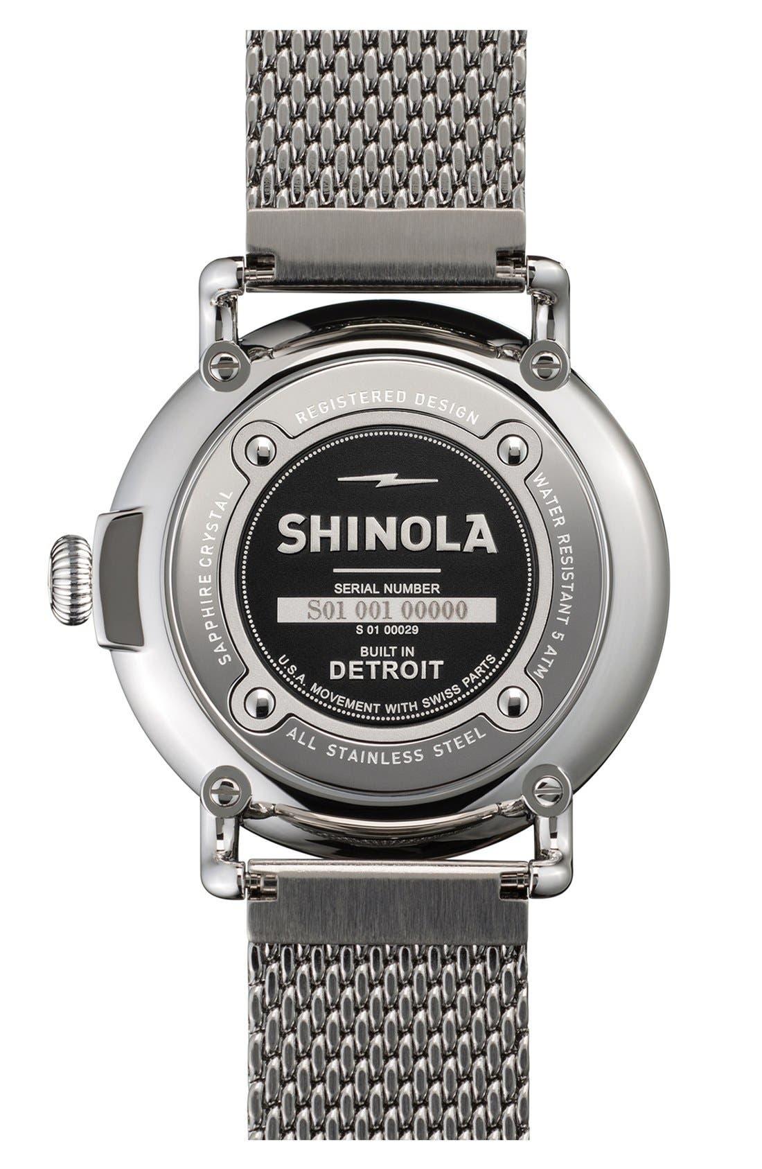Alternate Image 2  - Shinola 'The Runwell' Mesh Band Watch, 41mm