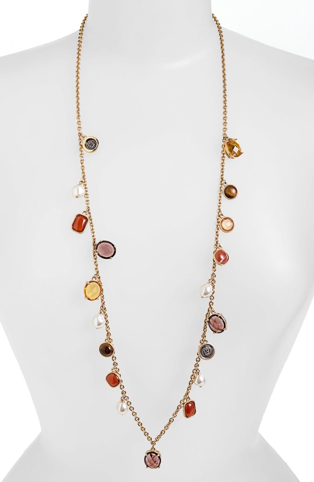Alternate Image 1 Selected - Lauren Ralph Lauren Long Charm Necklace