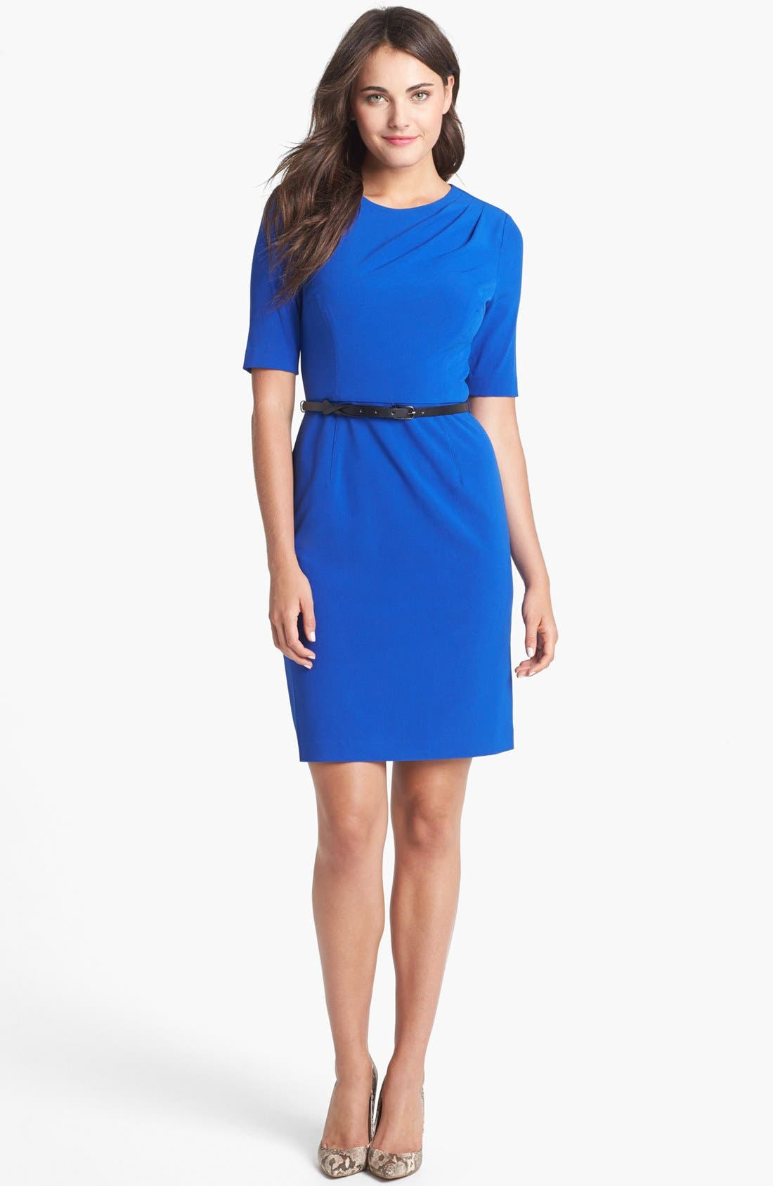 Alternate Image 1 Selected - Ivy & Blu for Maggy Boutique Sheath Dress (Petite)