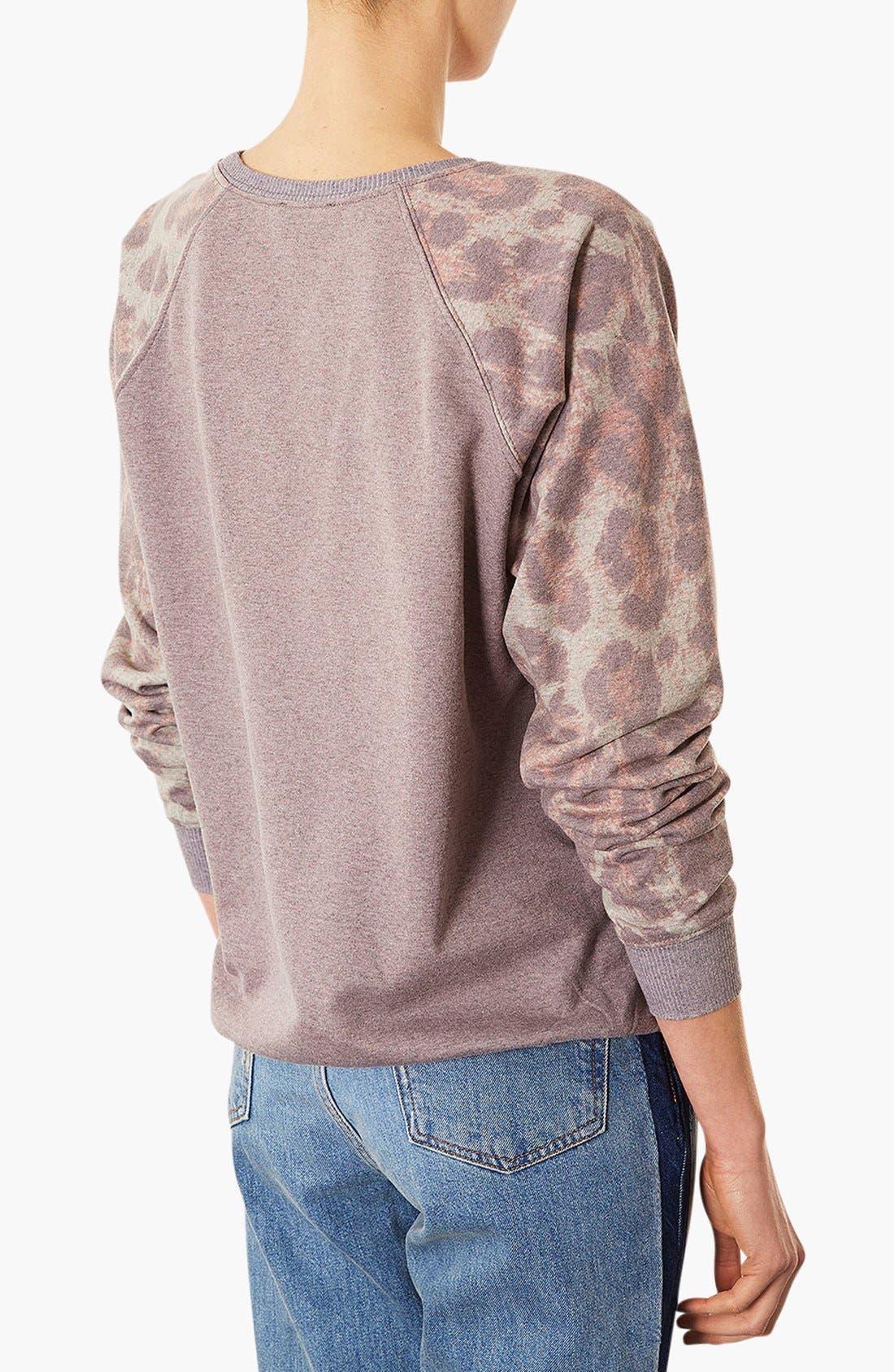 Alternate Image 2  - Topshop Leopard Sweatshirt