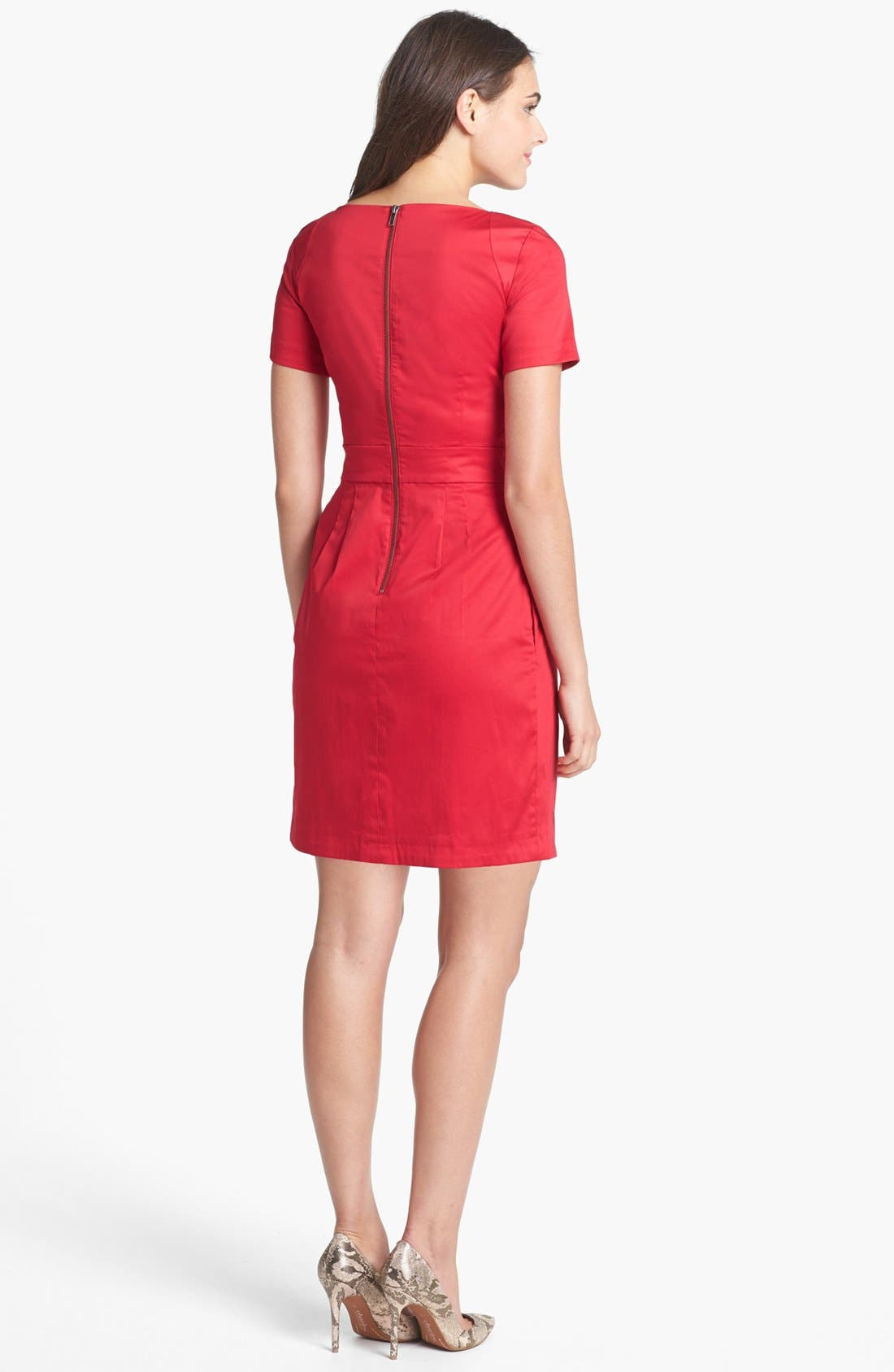 Alternate Image 2  - French Connection 'Richie' Stretch Cotton Sheath Dress