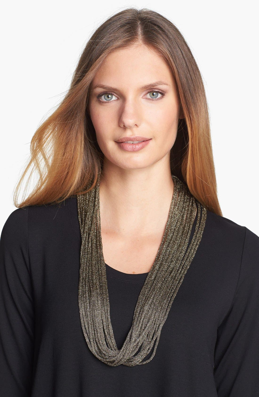 Alternate Image 1 Selected - Eileen Fisher Metallic Necklace Scarf
