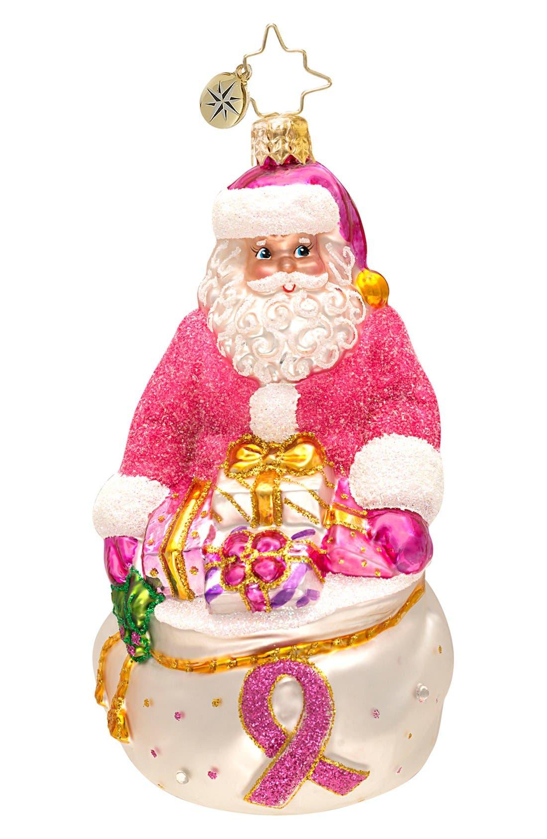 Alternate Image 1 Selected - Christopher Radko 'Think Pink Nick' Ornament