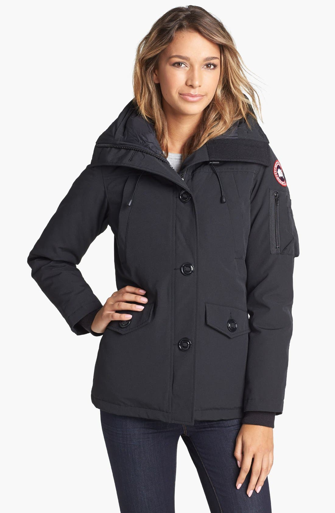 Alternate Image 3  - Canada Goose Montebello Slim Fit Down Parka with Genuine Coyote Fur Trim