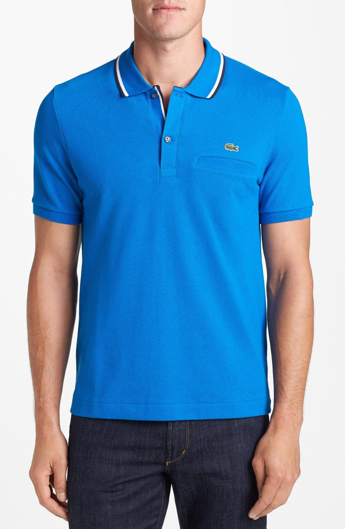 Alternate Image 1 Selected - Lacoste Tipped Piqué Polo