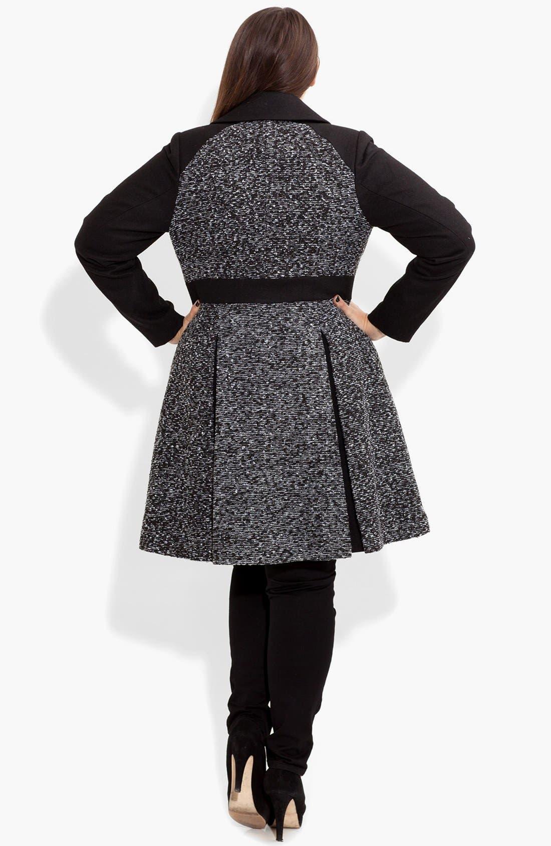 Alternate Image 2  - City Chic Bouclé Fit & Flare Jacket (Plus Size)
