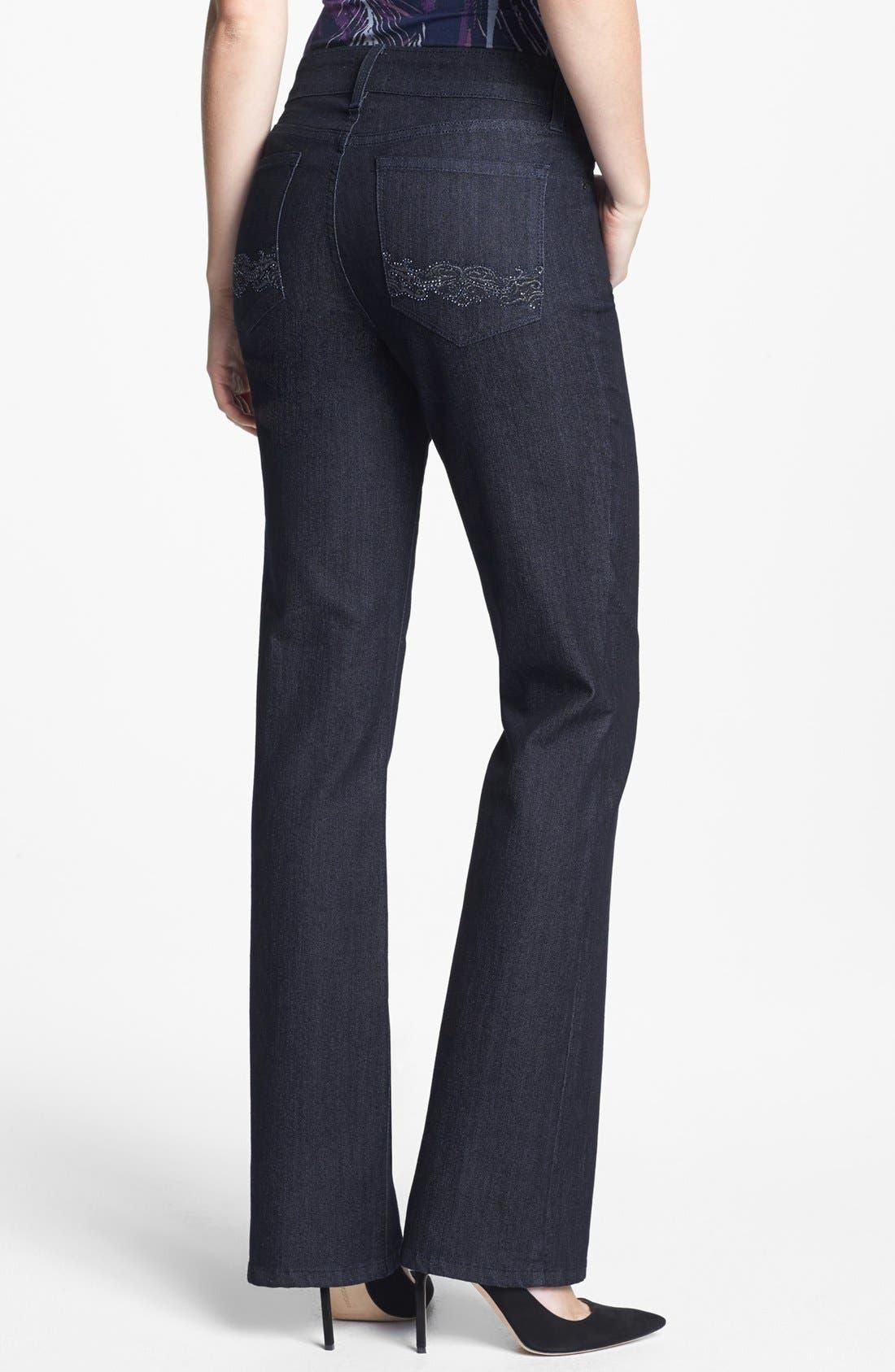 Alternate Image 2  - NYDJ 'Barbara' Embellished Bootcut Jeans (Dark Enzyme) (Regular & Petite)