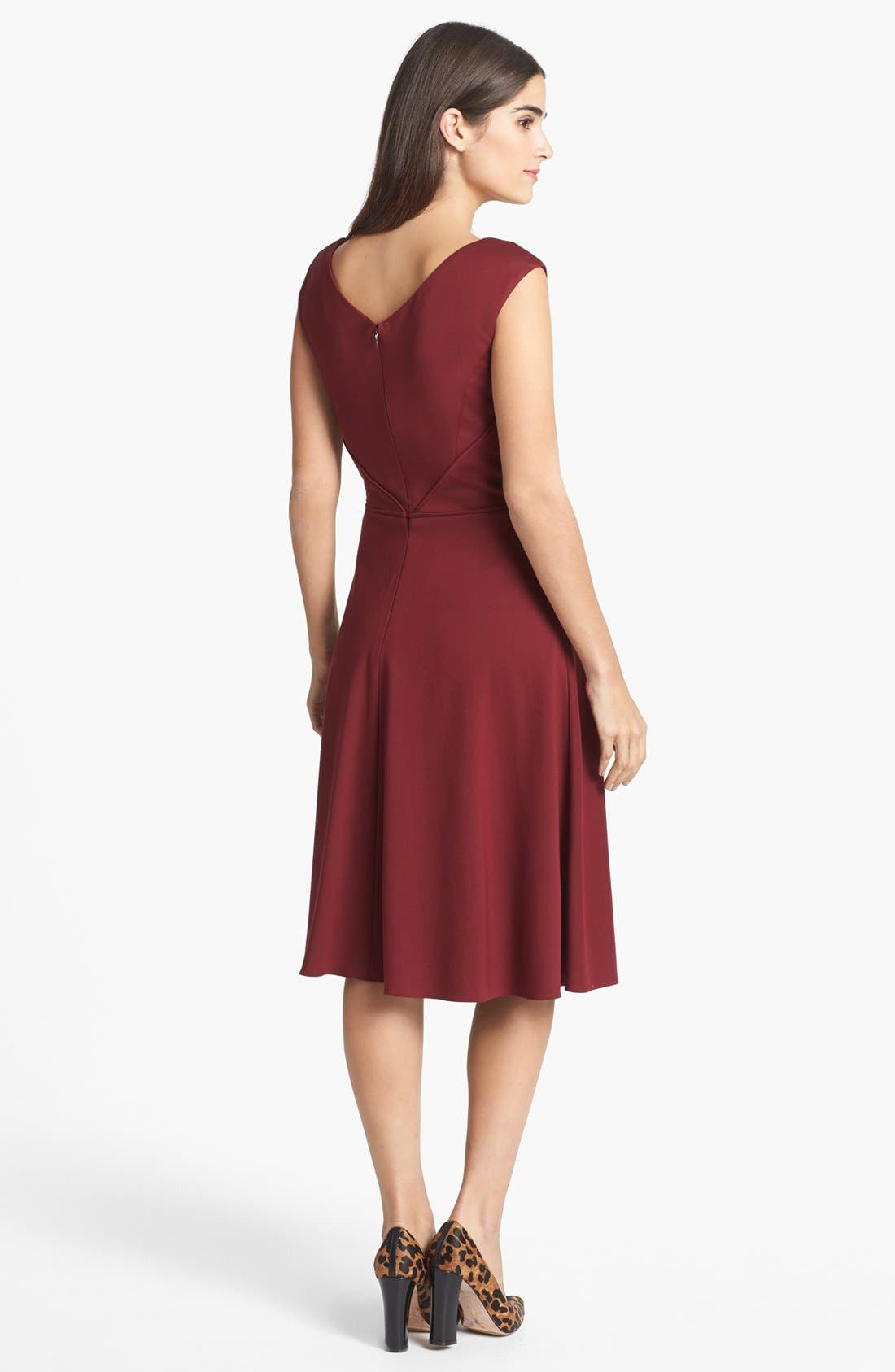 Alternate Image 2  - Adrianna Papell Ponte Knit Fit & Flare Dress