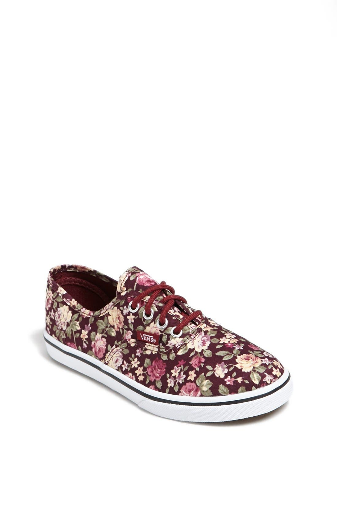 Main Image - Vans 'Authentic Lo Pro - Floral' Sneaker (Toddler, Little Kid & Big Kid)