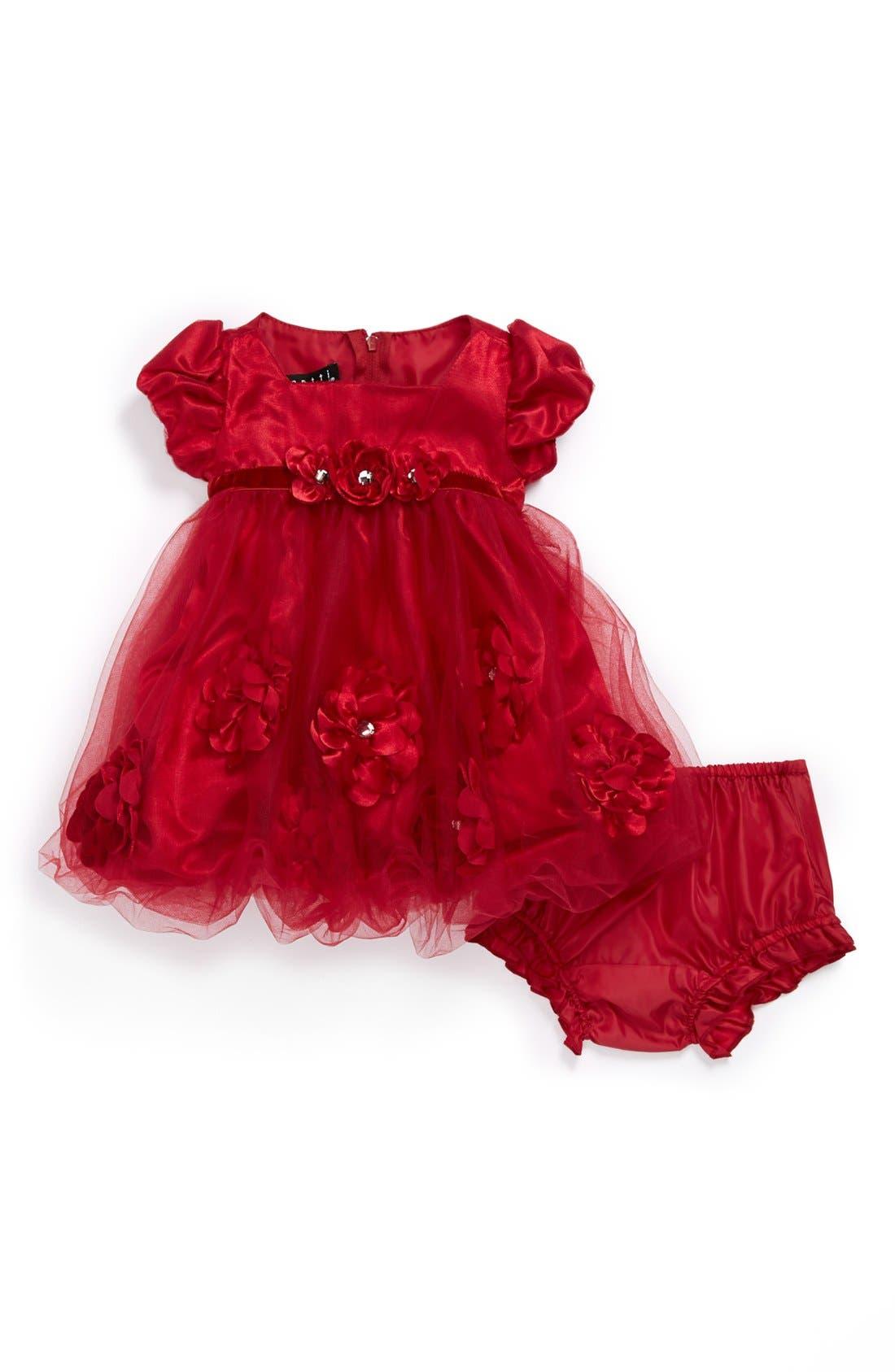 Main Image - Biscotti 'Posies' Bubble Dress & Bloomers (Baby Girls)