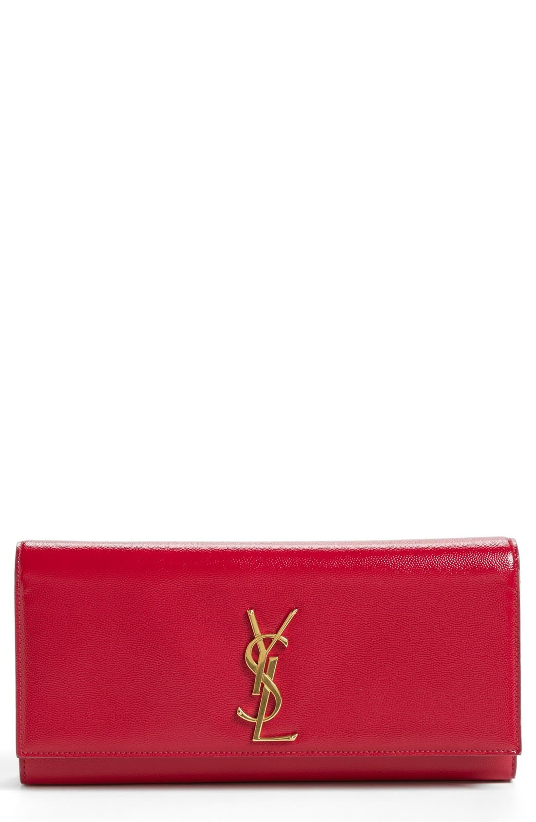 Alternate Image 1 Selected - Saint Laurent 'Cassandre - Vernis' Leather Clutch