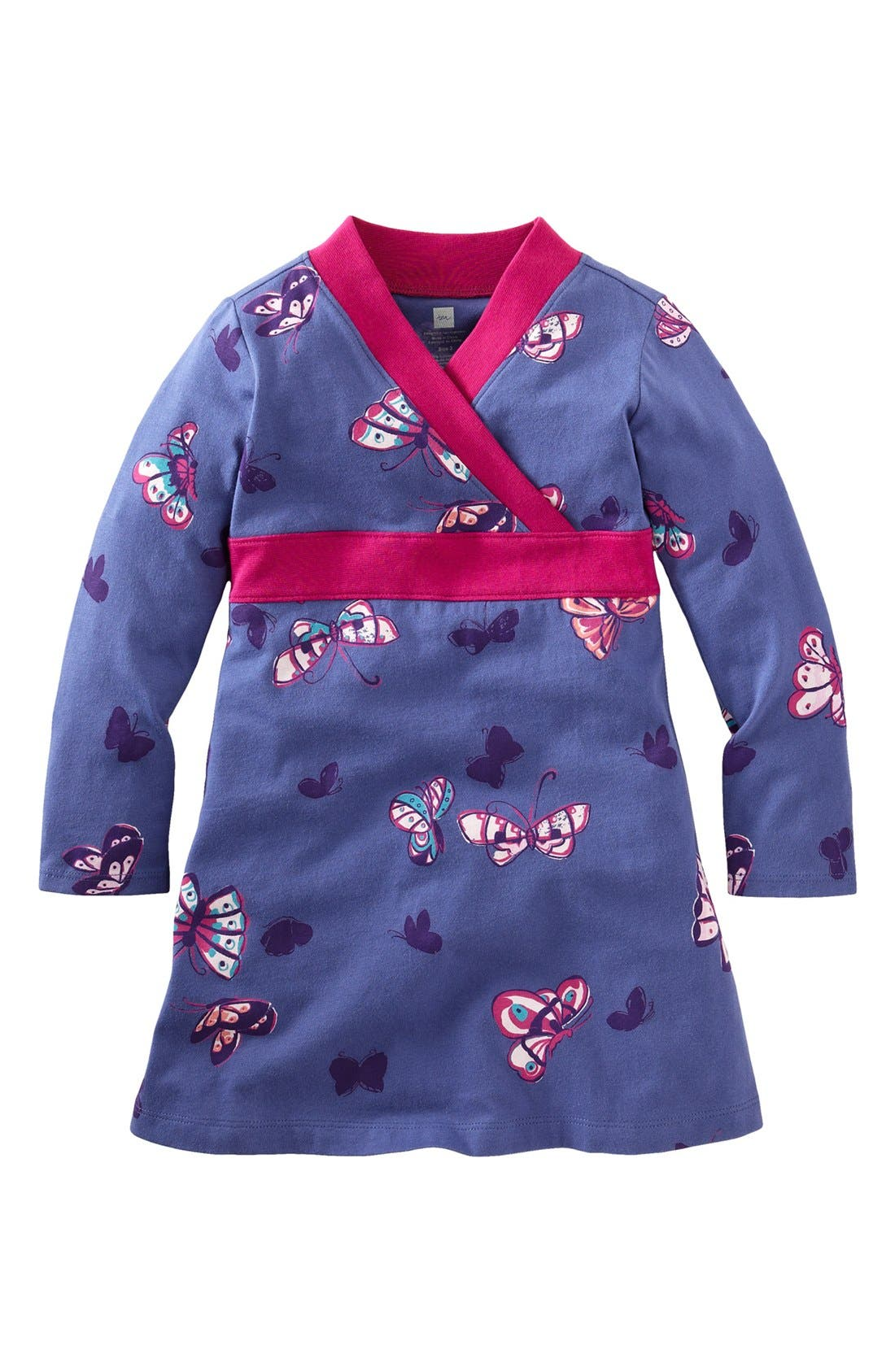 Main Image - Tea Collection 'Suzhou' Butterfly Wrap Dress (Baby)