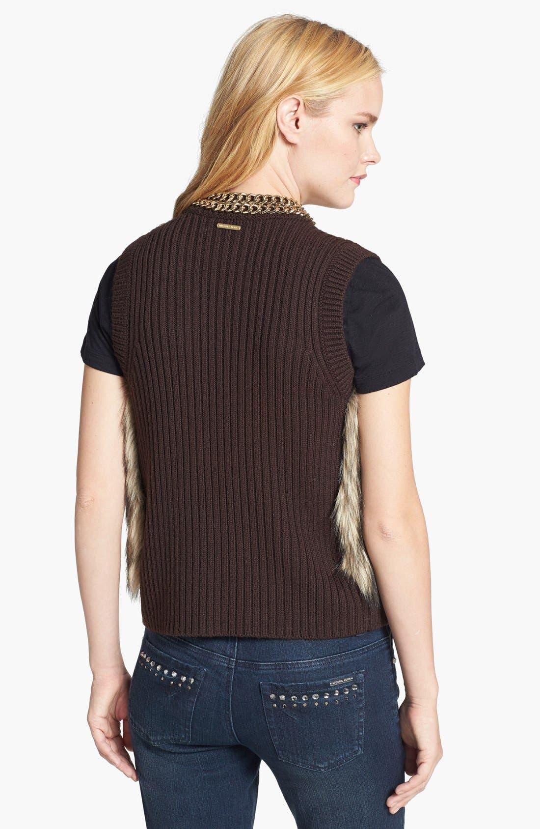 Alternate Image 2  - MICHAEL Michael Kors Faux Fur Front Vest
