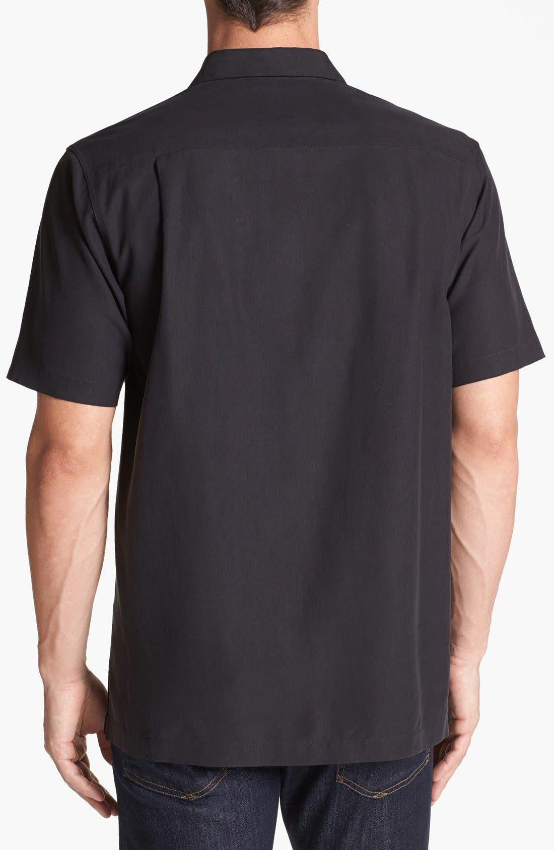 Alternate Image 2  - Nat Nast 'Barzini' Silk Campshirt