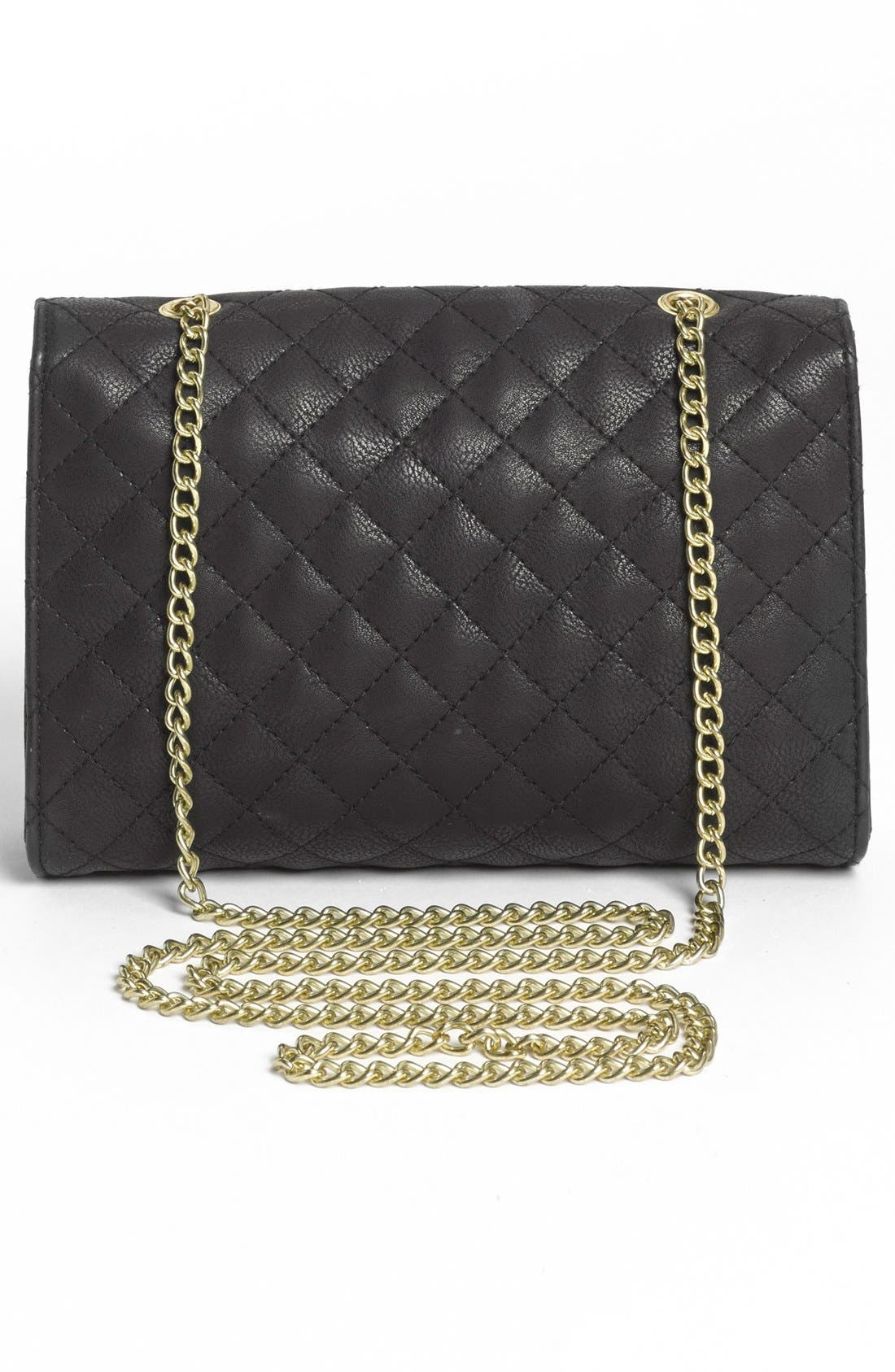 Alternate Image 4  - Lulu Quilted Crossbody Bag (Juniors)