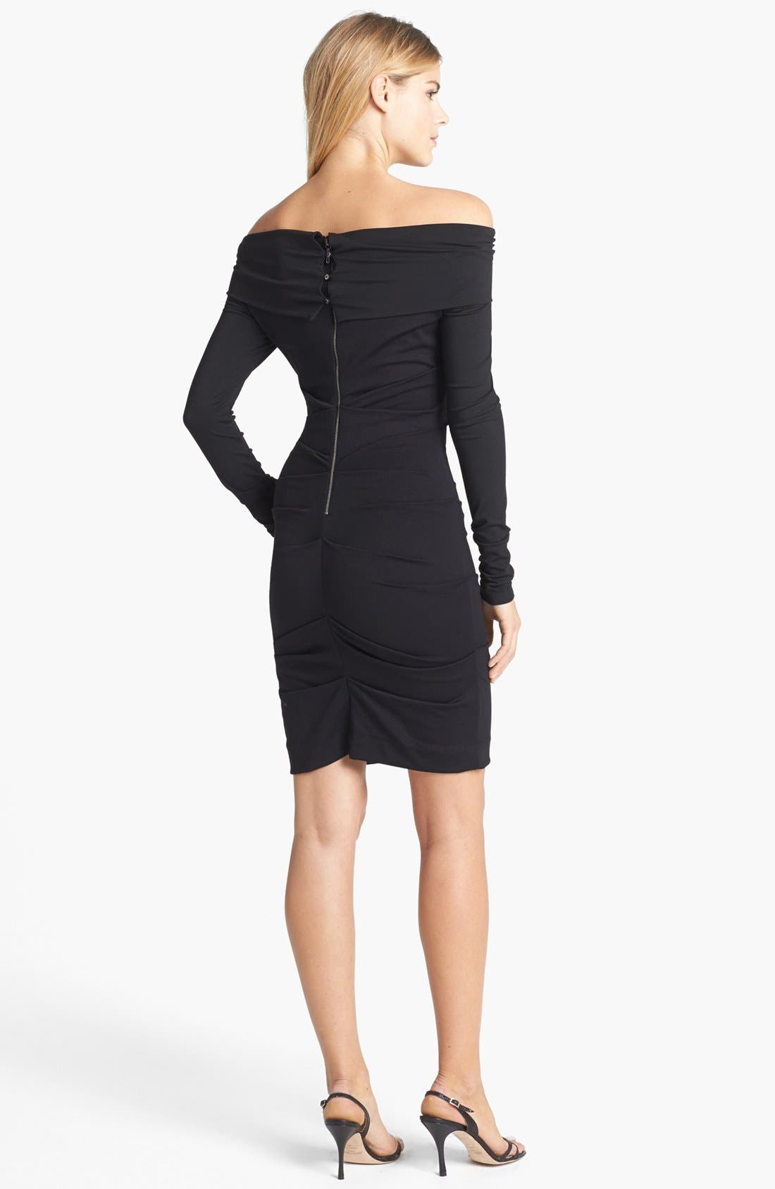 Alternate Image 2  - Nicole Miller Off Shoulder Ponte Knit Sheath Dress