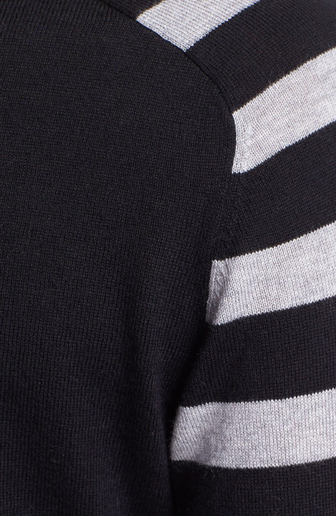 Alternate Image 3  - Vince Camuto Mixed Stripe Colorblock Sweater
