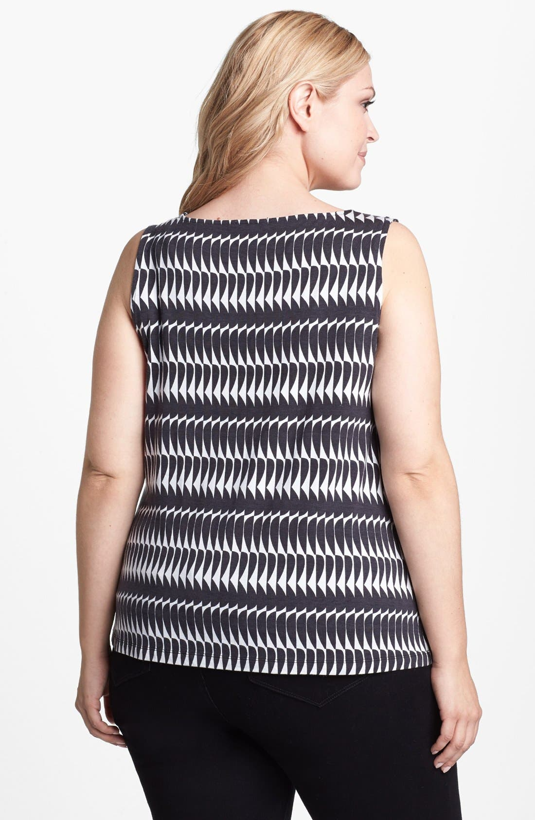 Alternate Image 2  - Halogen® Drape Neck Print Top (Plus Size)