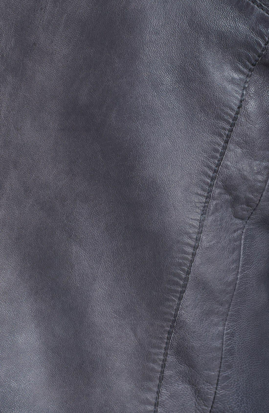 Alternate Image 3  - Zadig & Voltaire 'Venci' Crop Leather Jacket