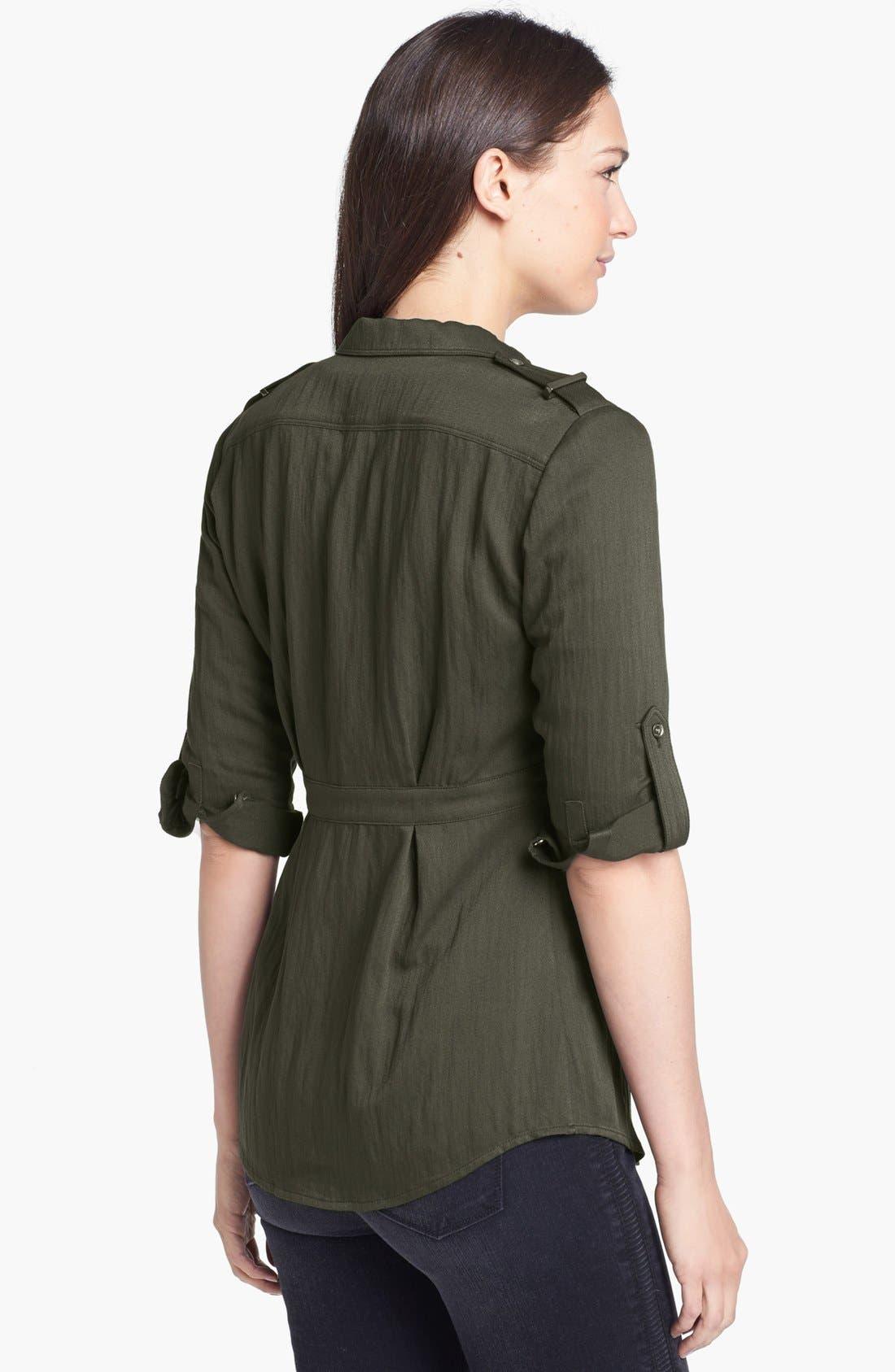 Alternate Image 2  - Burberry Brit Roll Sleeve Crinkled Twill Shirt Jacket