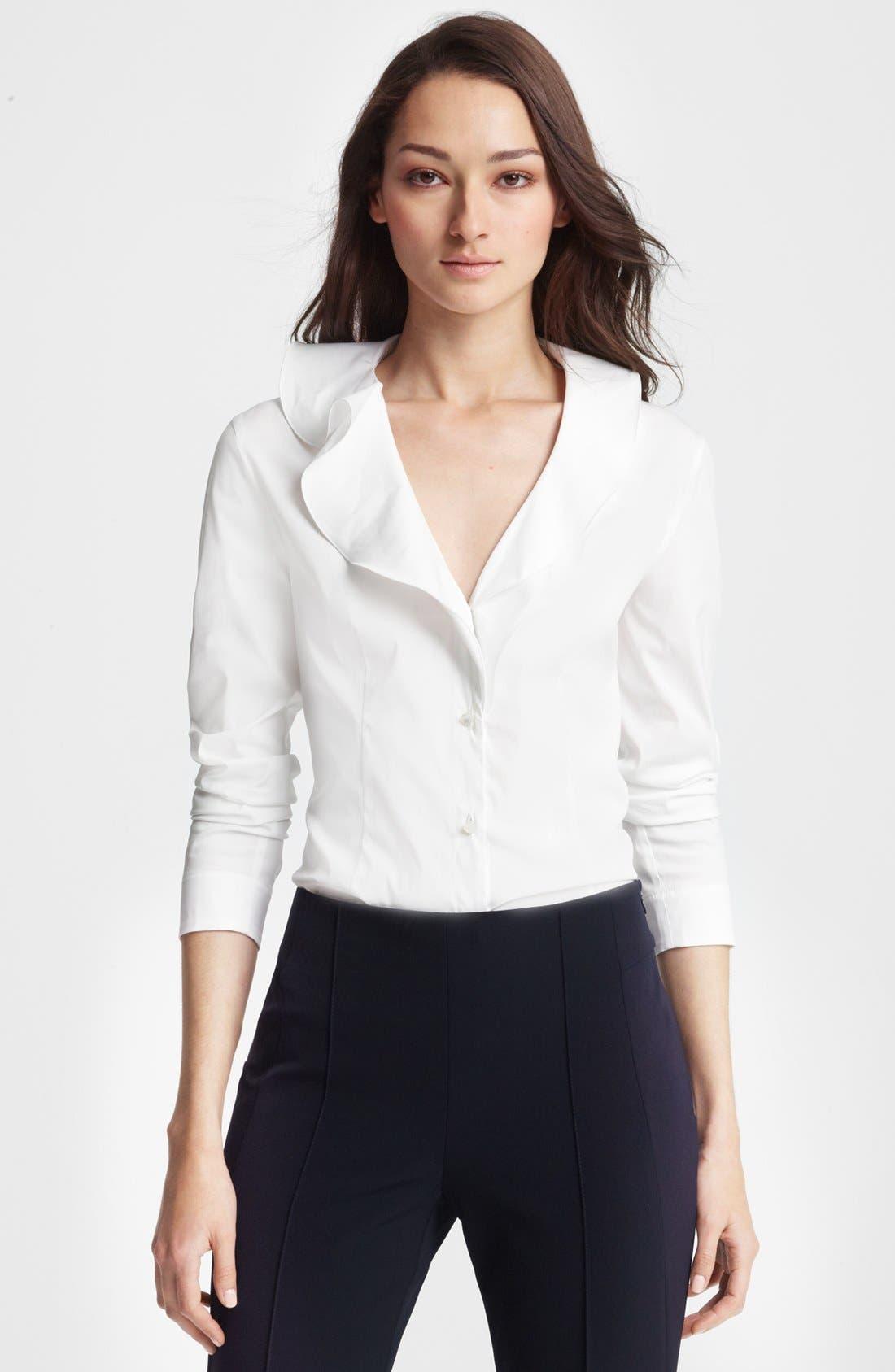 Main Image - ESCADA Ruffled Collar Blouse