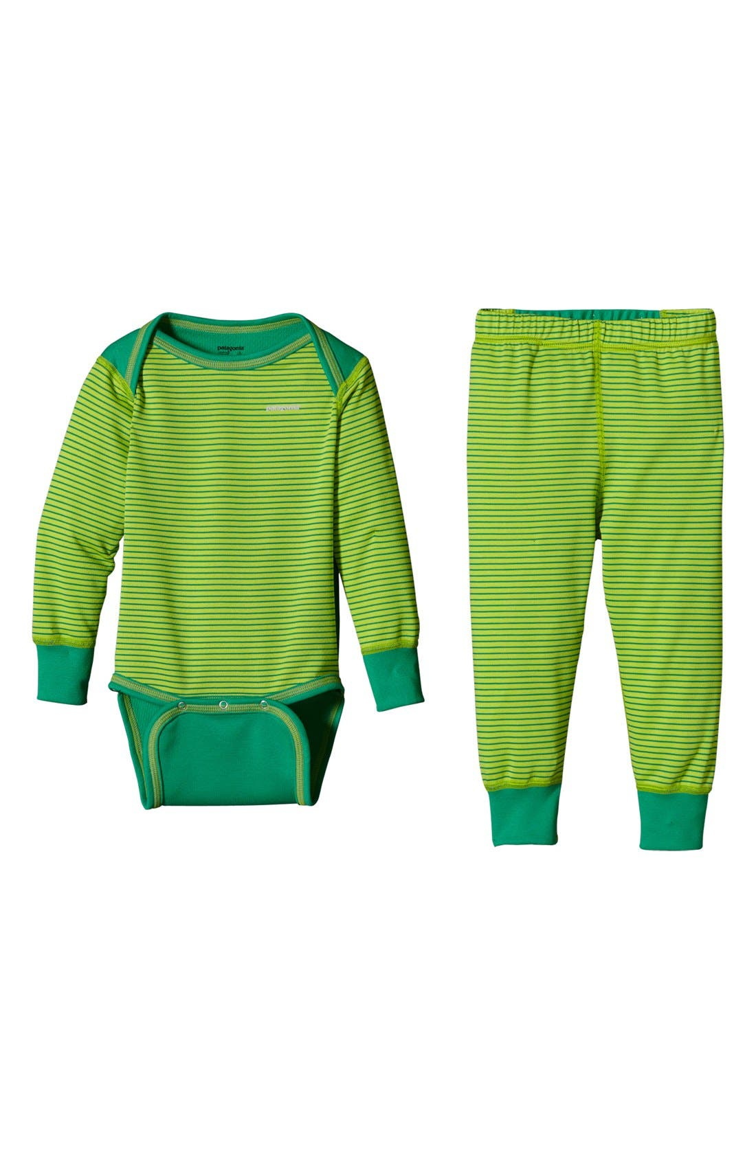 Alternate Image 1 Selected - Patagonia 'Capilene® 3' Bodysuit & Pants (Toddler)