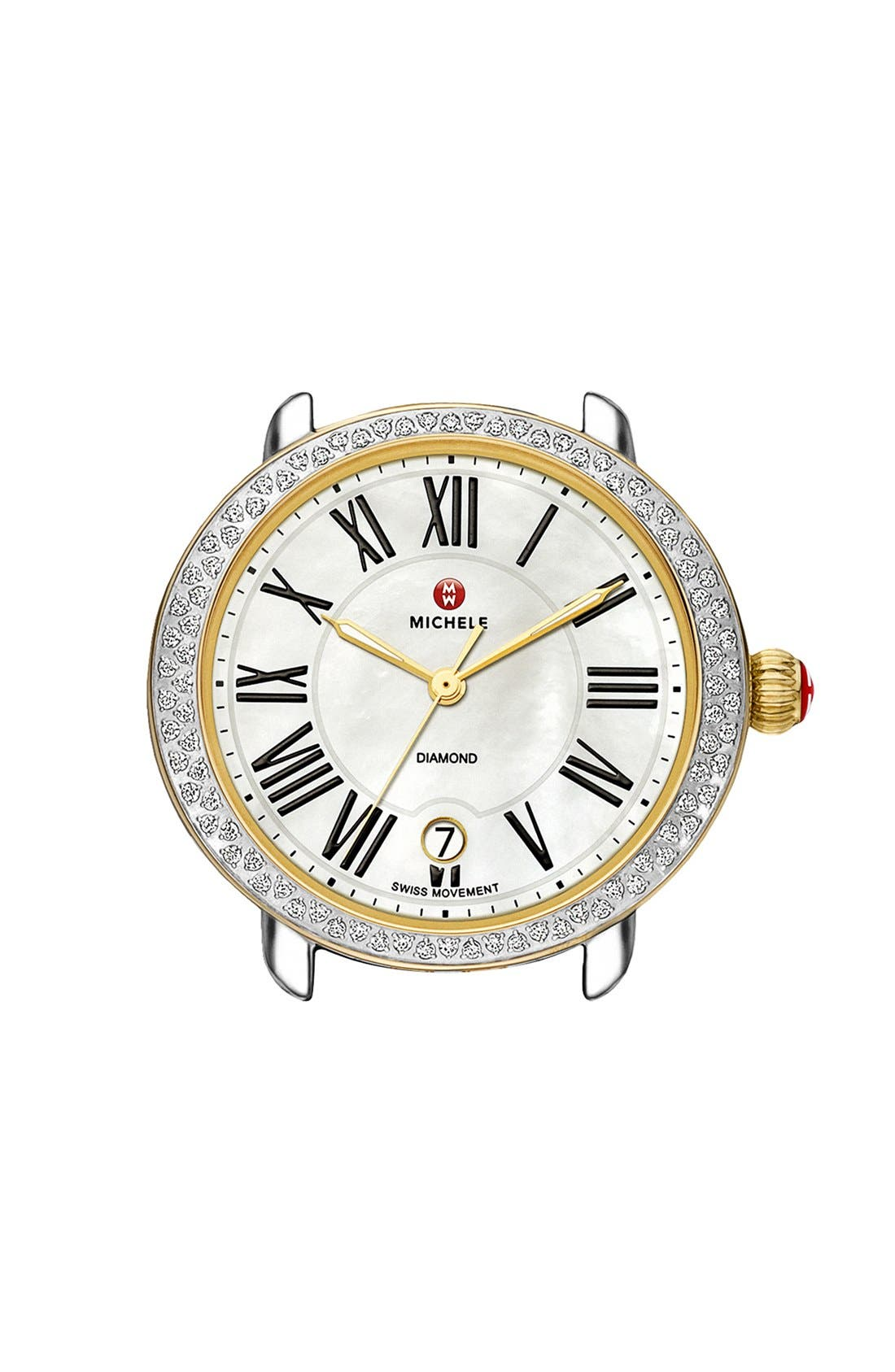 Alternate Image 1 Selected - MICHELE Serein 16 Diamond Watch Case, 34mm x 36mm