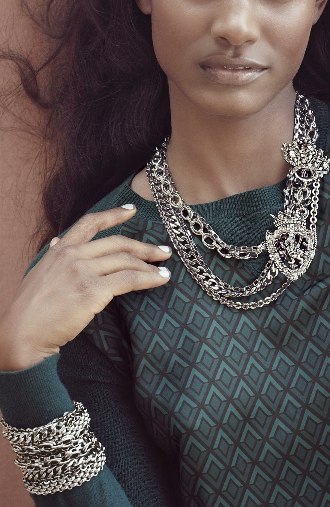 Alternate Image 2  - Nordstrom 'Lady Links' Mixed Chain Bracelet