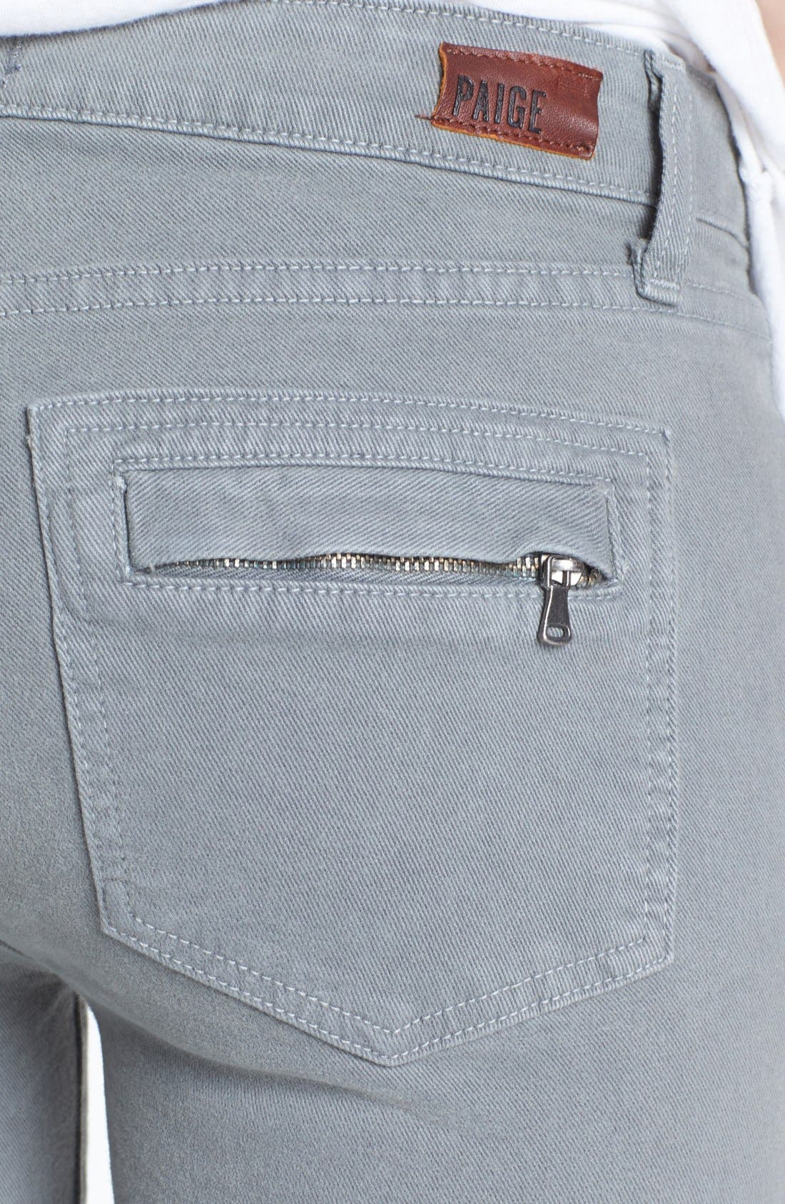 Alternate Image 3  - Paige Denim 'Marley' Zip Detail Skinny Jeans (Cloud Cover)
