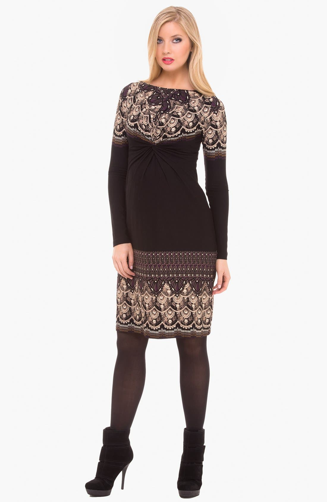 Main Image - Olian Boatneck Maternity Dress