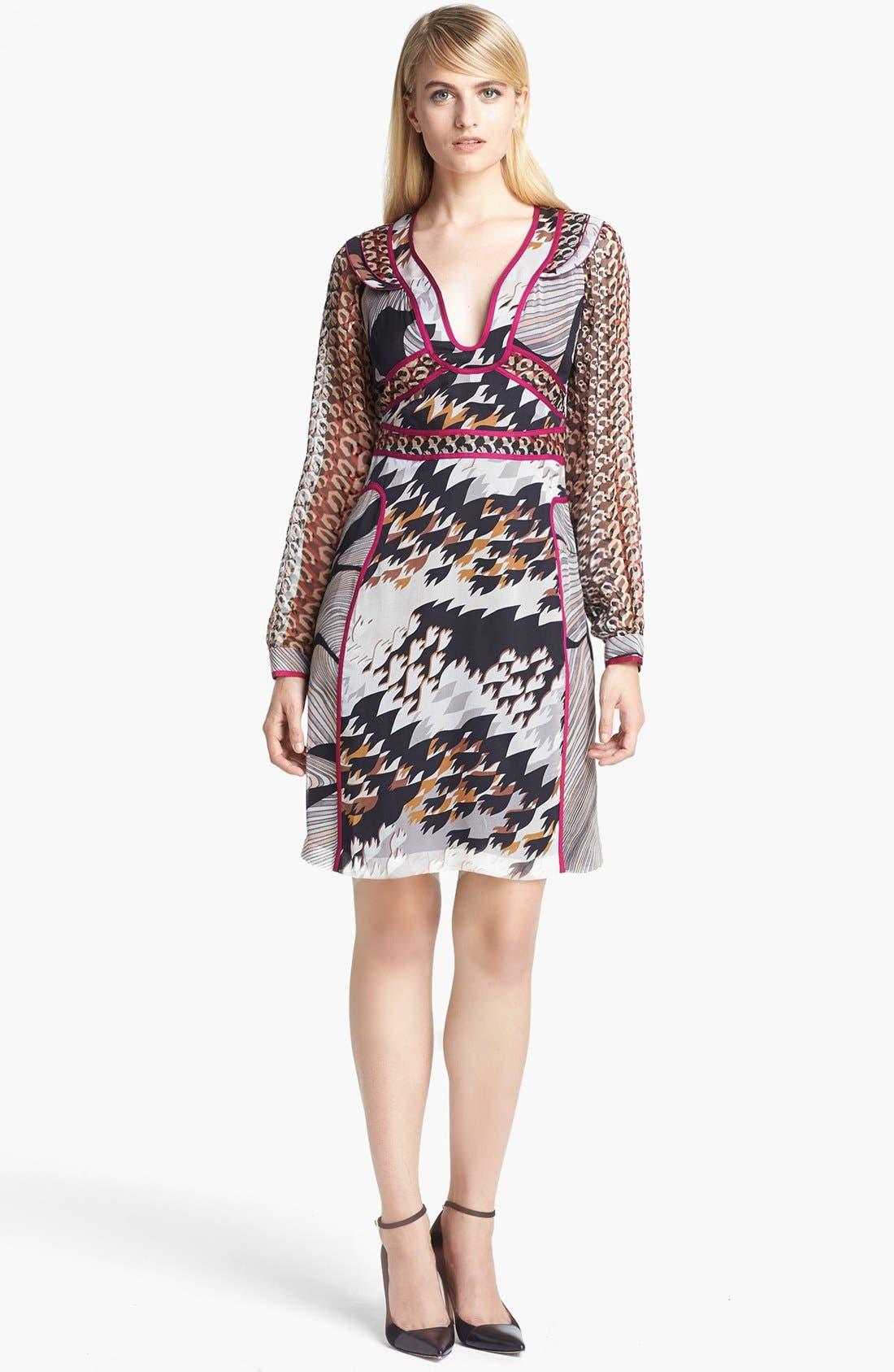 Alternate Image 1 Selected - Diane von Furstenberg 'Poesie' Silk A-Line Dress
