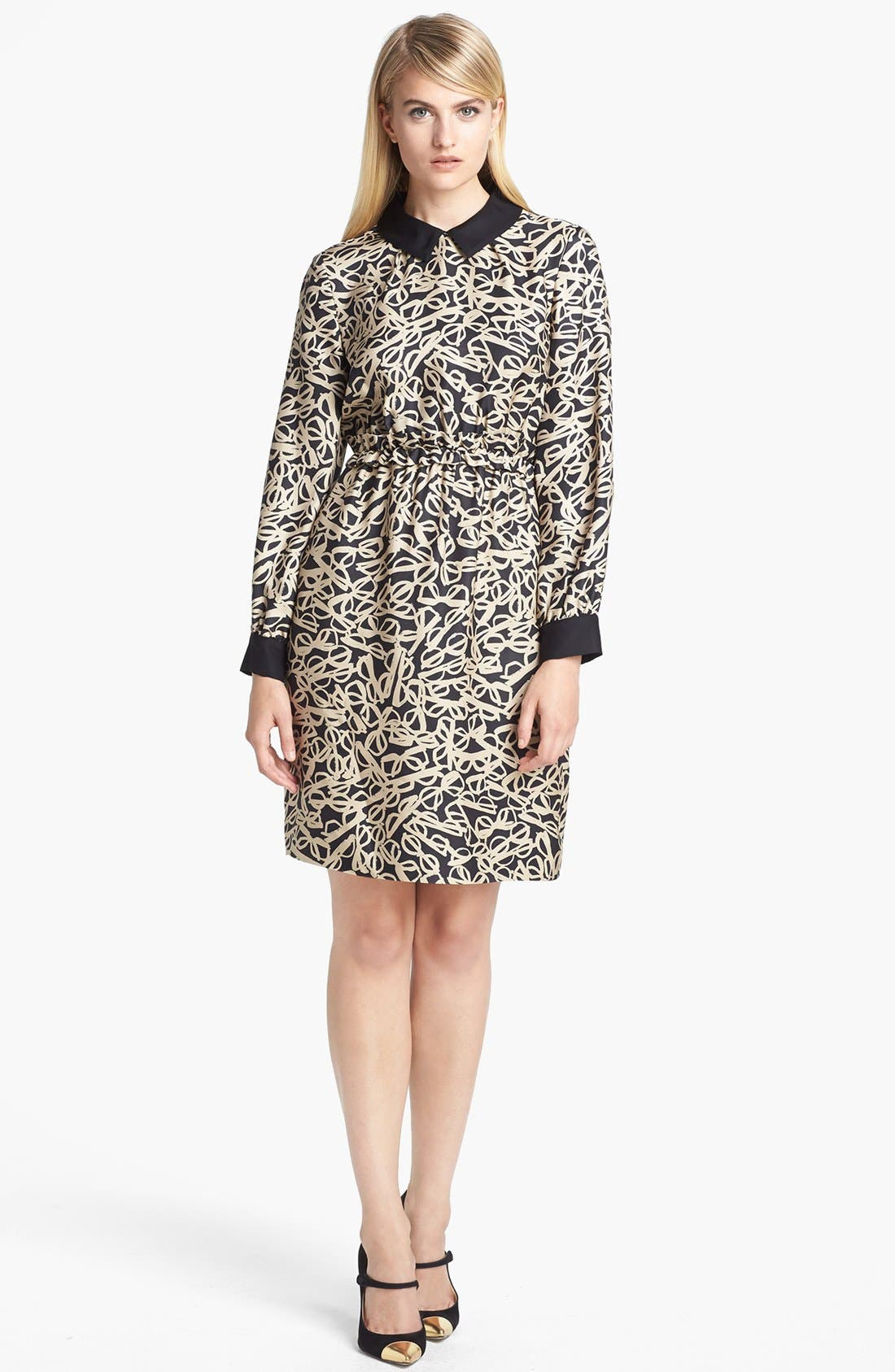 Alternate Image 1 Selected - kate spade new york 'willow' print woven shirtdress