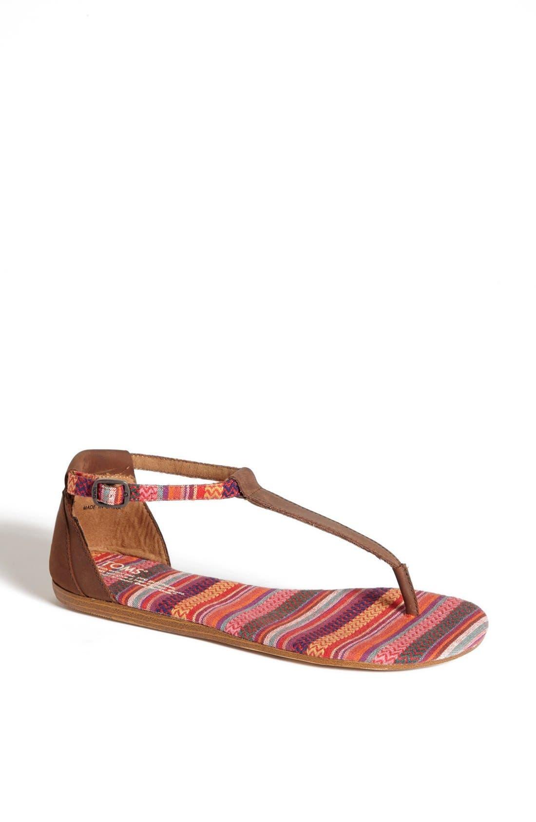 Main Image - TOMS 'Playa' T-Strap Flat Sandal