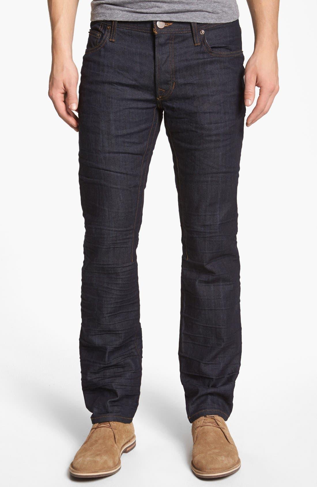 Main Image - Rogue 'Ruffian' Slim Straight Leg Jeans (Dark Blue)